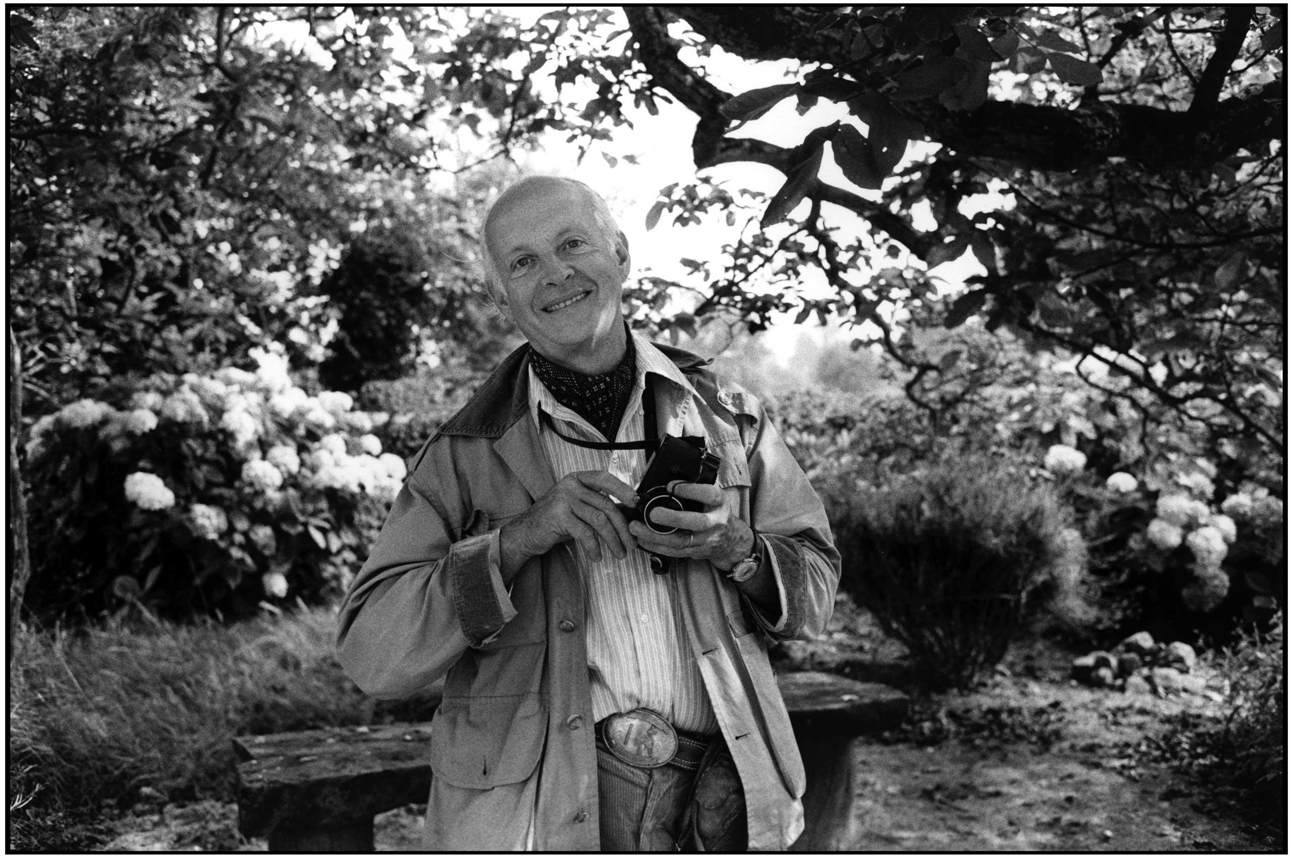 Henri Cartier-Bresson in Normandy, France, 1970.
