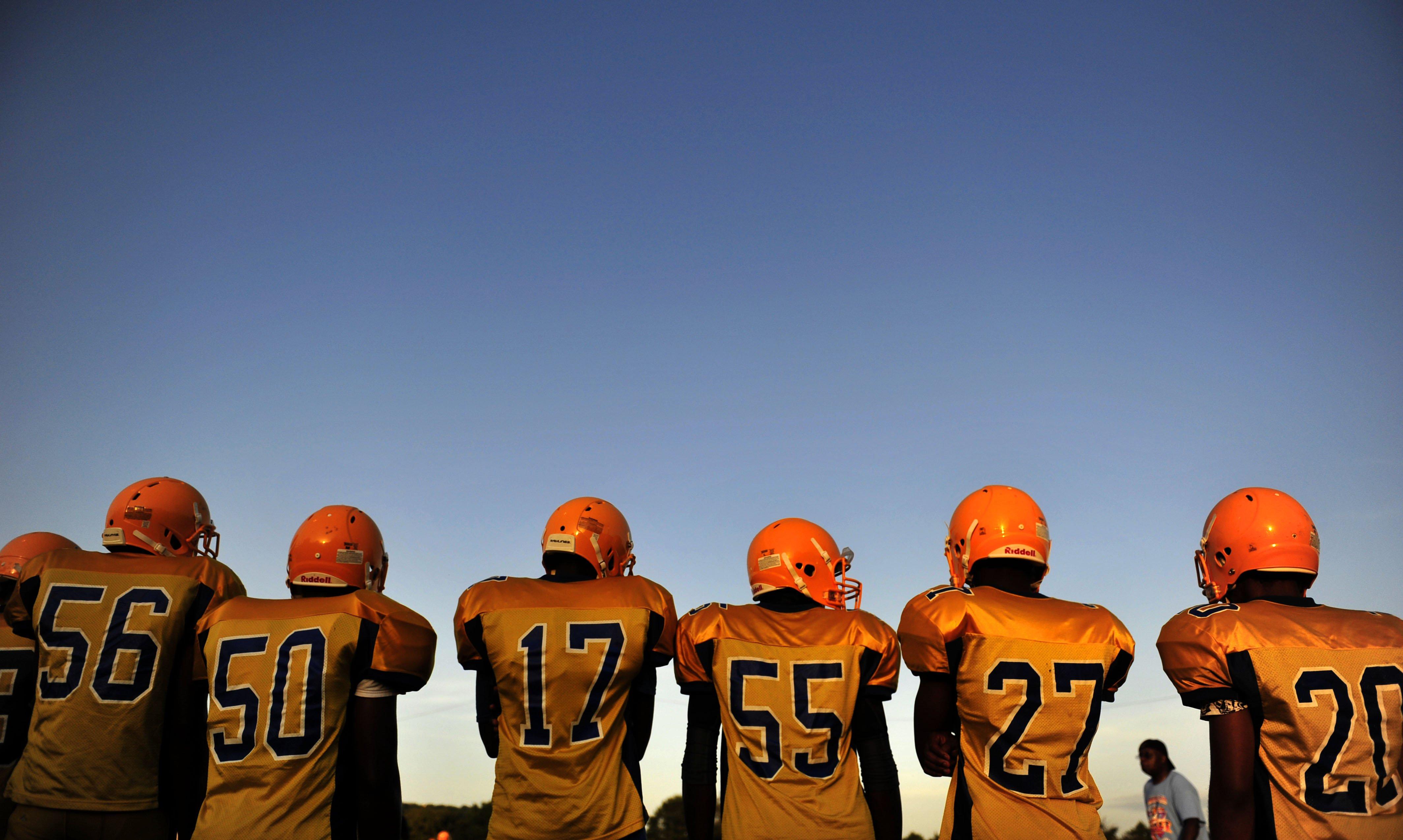 J.O. Johnson Jaguar football practice at Johnson High School on Aug. 21, 2014 in Huntsville, Ala.