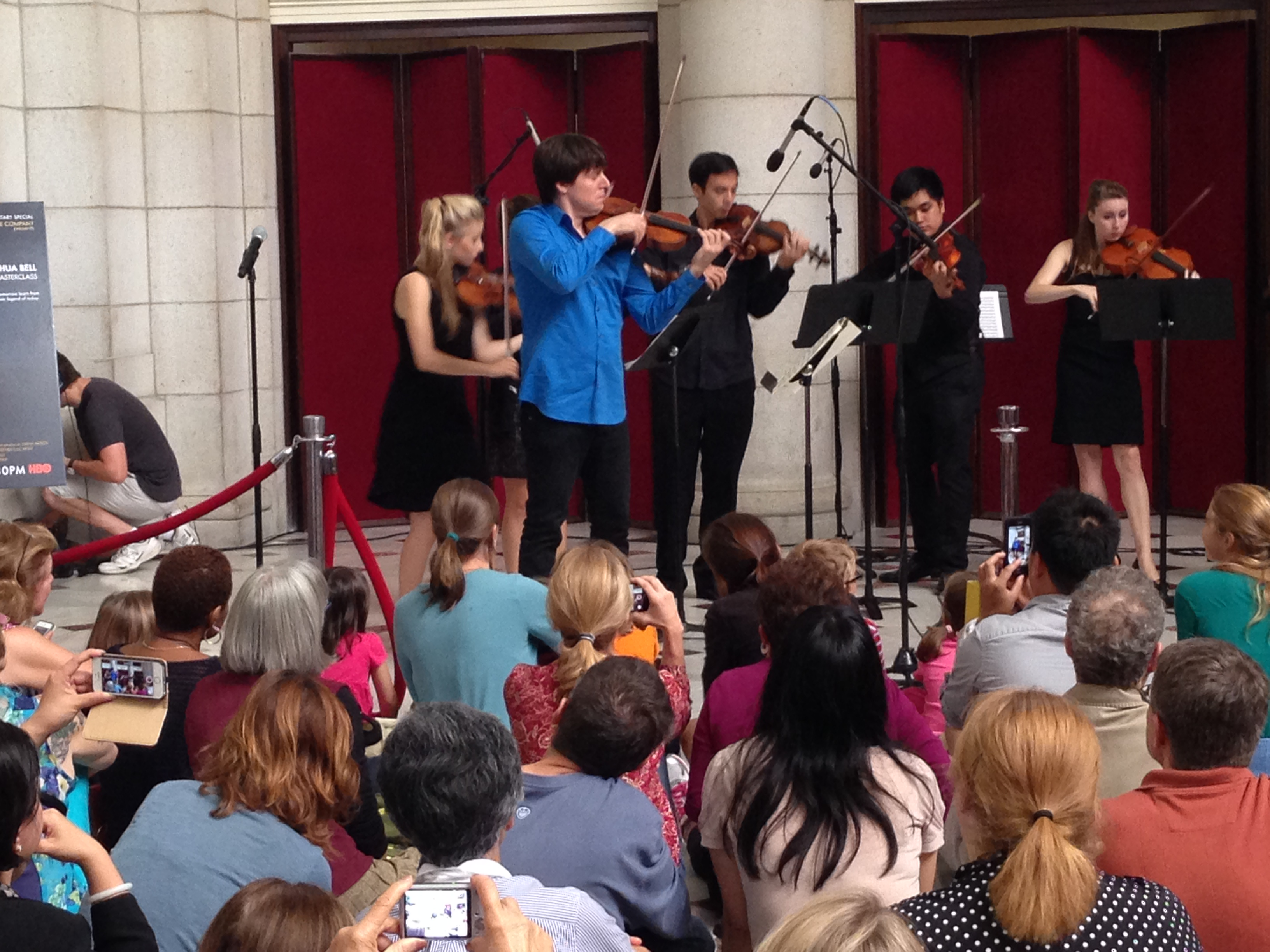 Joshua Bell performs in Union Station in Washington, D.C. on September 30, 2014.