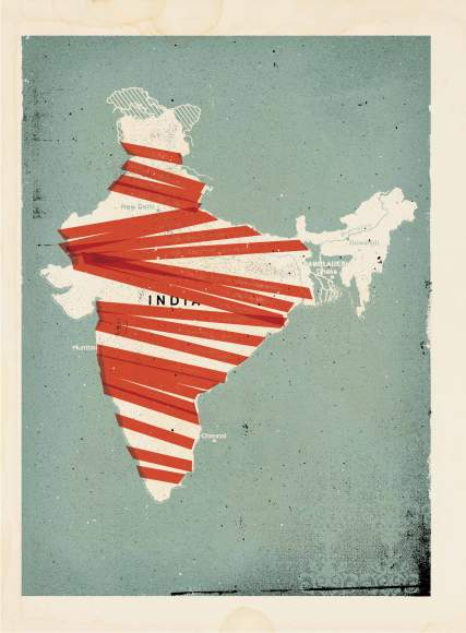 India Illustration by Concepción Studios for TIME