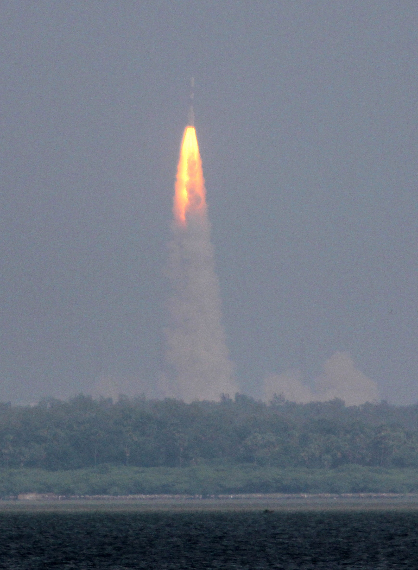 The Polar Satellite Launch Vehicle rocket lifts off carrying India's Mars spacecraft from the east-coast island of Sriharikota, India, Nov. 2013.