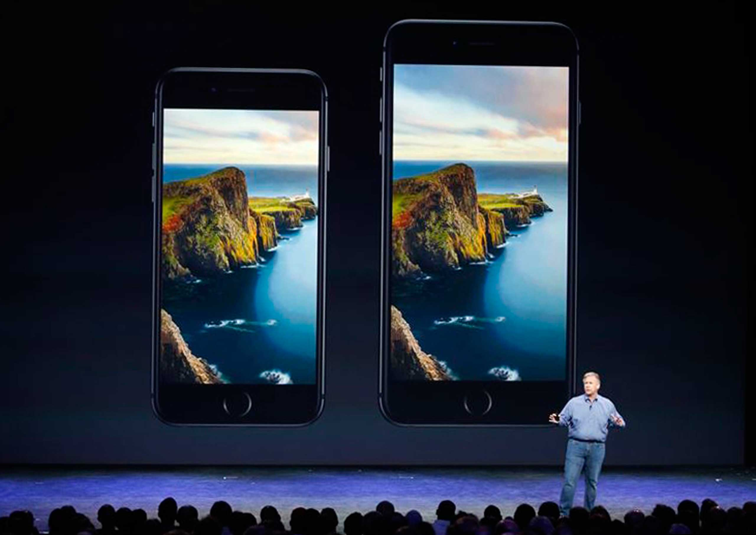 Phil Schiller, Senior Vice President at Apple, Inc. speaks about the iPhone 6 and the iPhone 6 Plus during an Apple event at the Flint Center in Cupertino, Calif., September 9, 2014.
