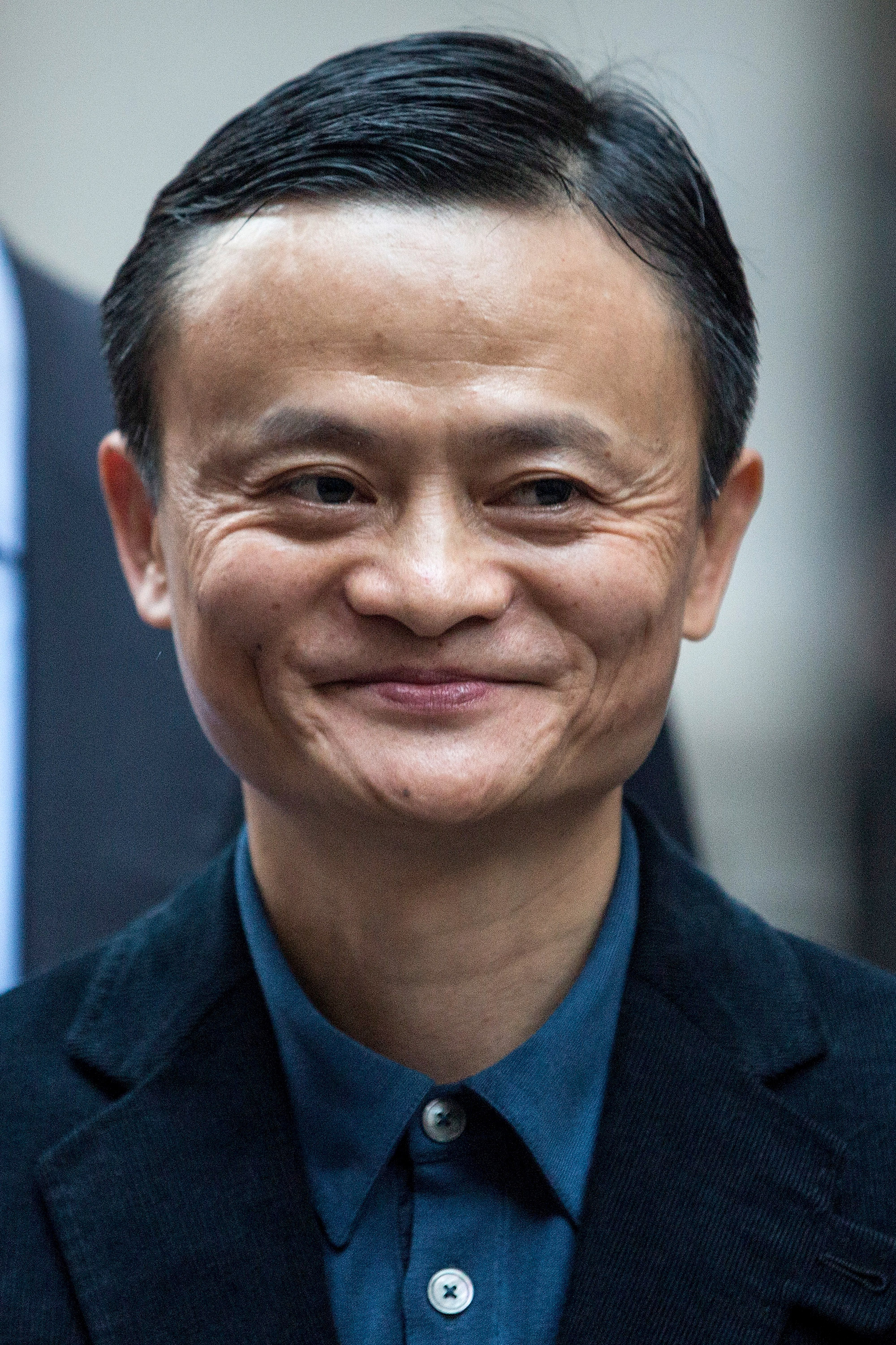 Executive Chairman of Alibaba Group Jack Ma poses for a photo outside the New York Stock Exchange prior to the company's initial price offering (IPO) on September 19, 2014 in New York City.