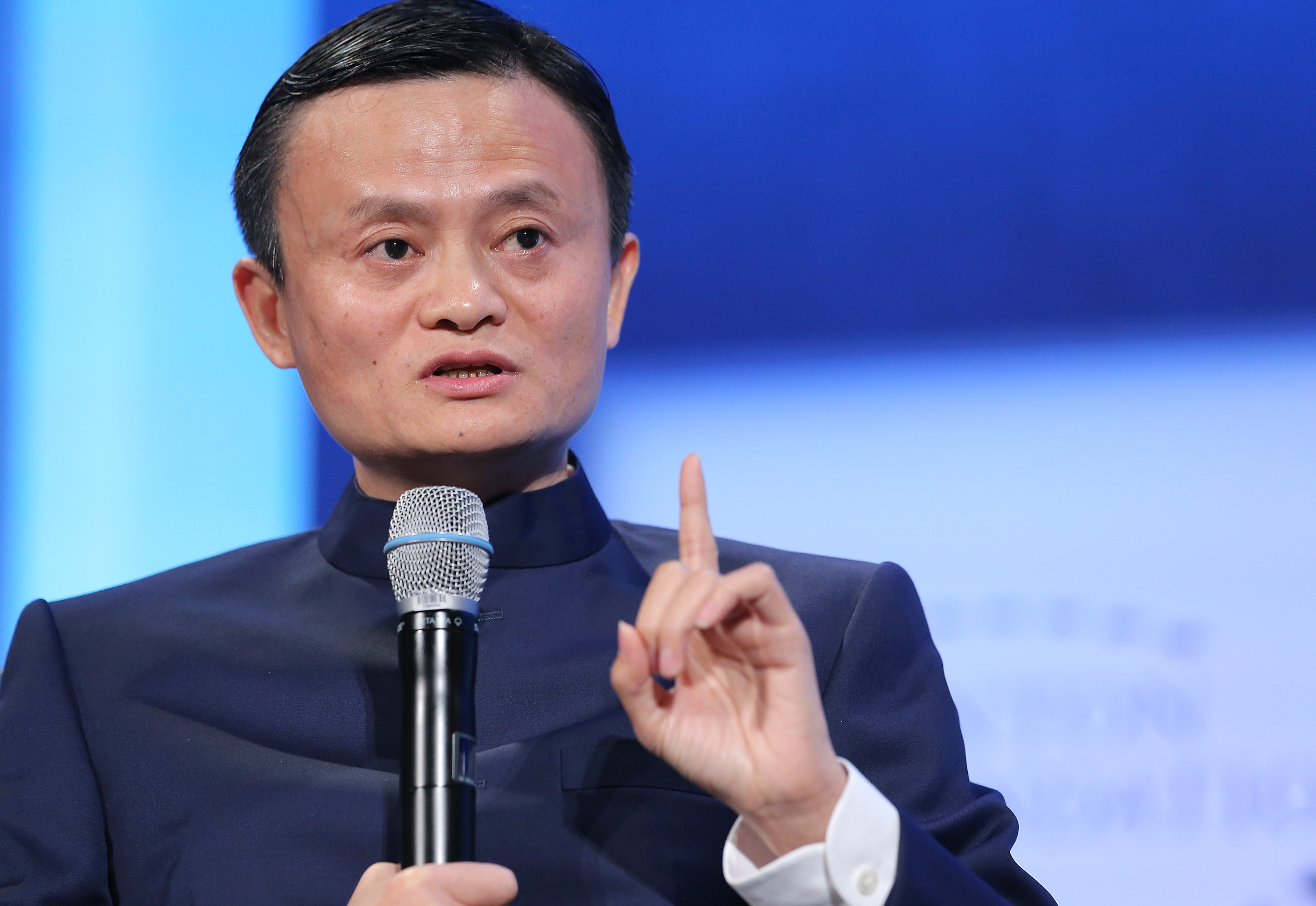 Executive Chairman of the Alibaba Group Jack Ma speaks during the  Valuing What Matters  panl discussion during the third day of the Clinton Global Initiative's 10th Annual Meeting on September 23, 2014 in New York City.