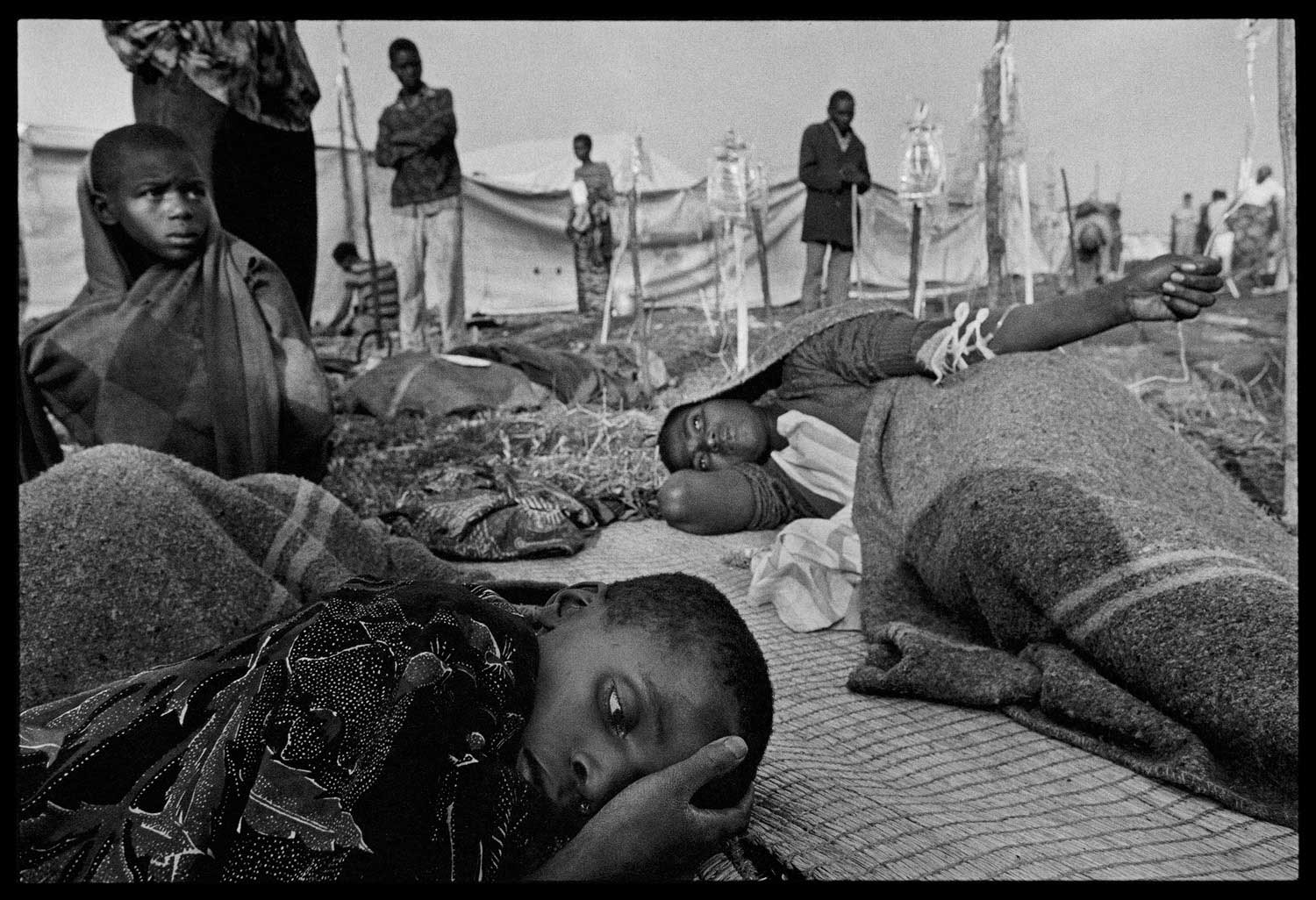 Intravenous rehydration was critical to reviving cholera victims, Zaire, 1994.
