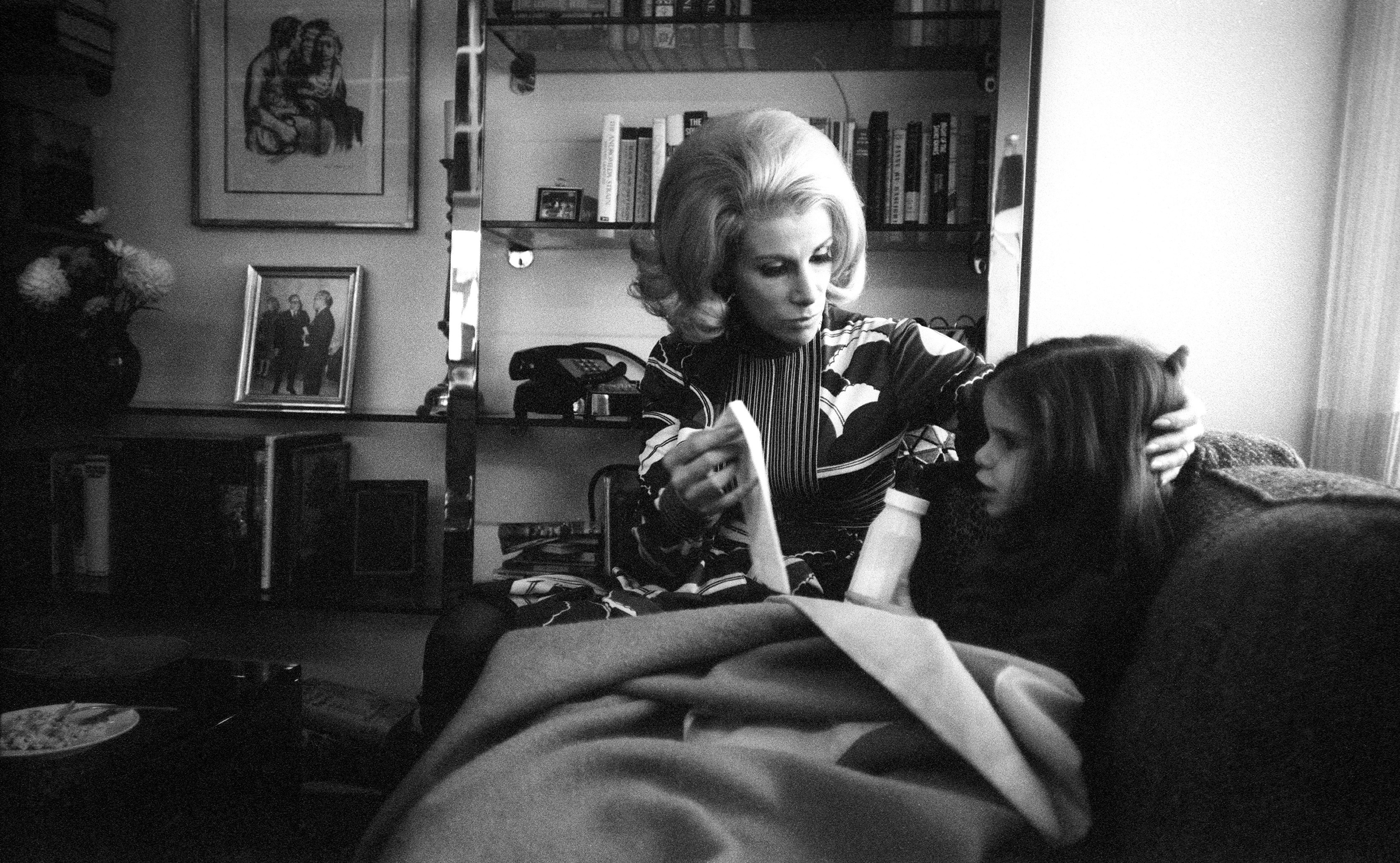 Joan Rivers with daughter Melissa at home in New York City in Nov., 1970.