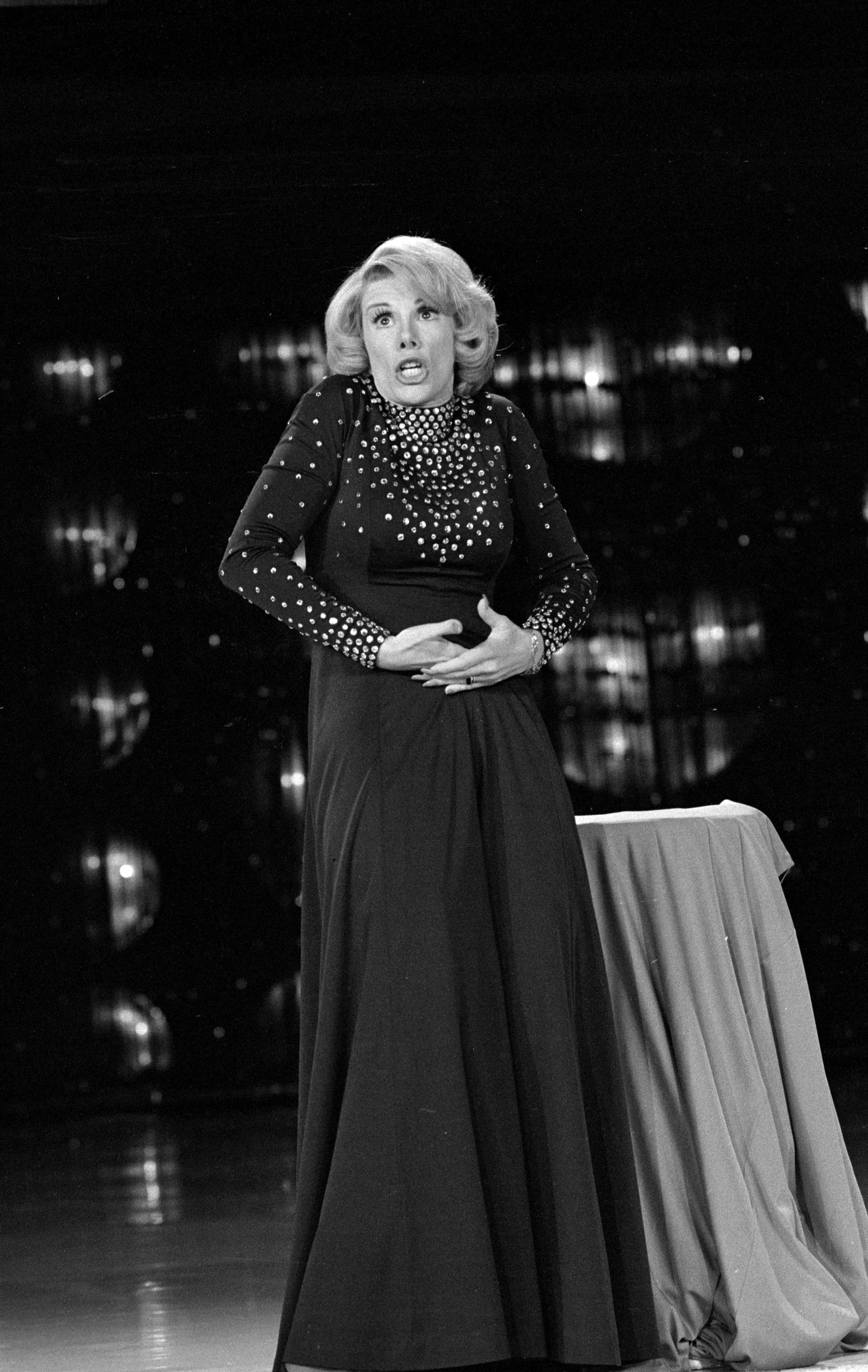 "Actress Joan Rivers guest stars on ""The Carol Bunett Show"" on Dec. 13, 1975 in Los Angeles."