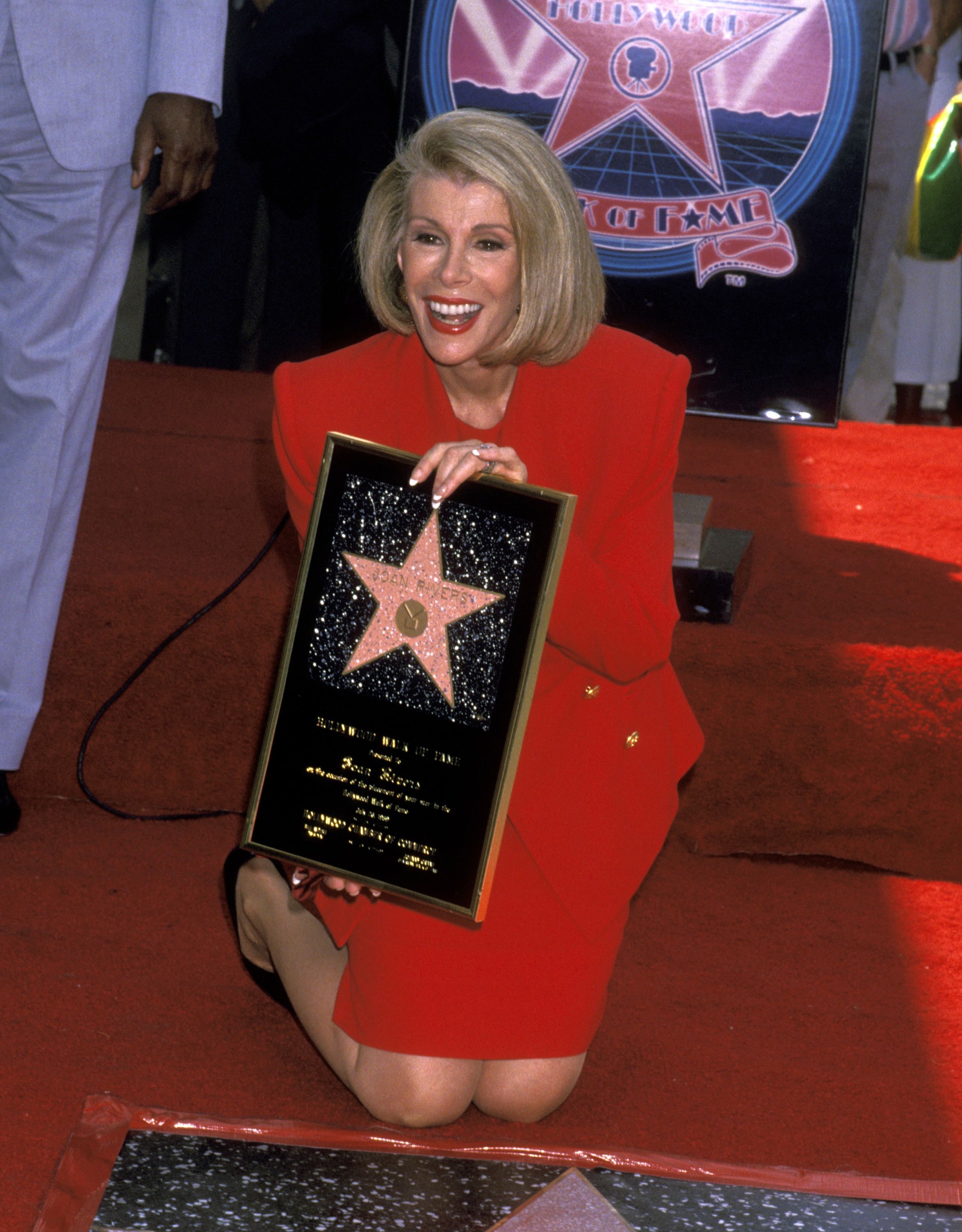 Joan Rivers is honored with a Star on the Hollywood Walk of Fame on July 26, 1989, at Hollywood Boulevard in Hollywood