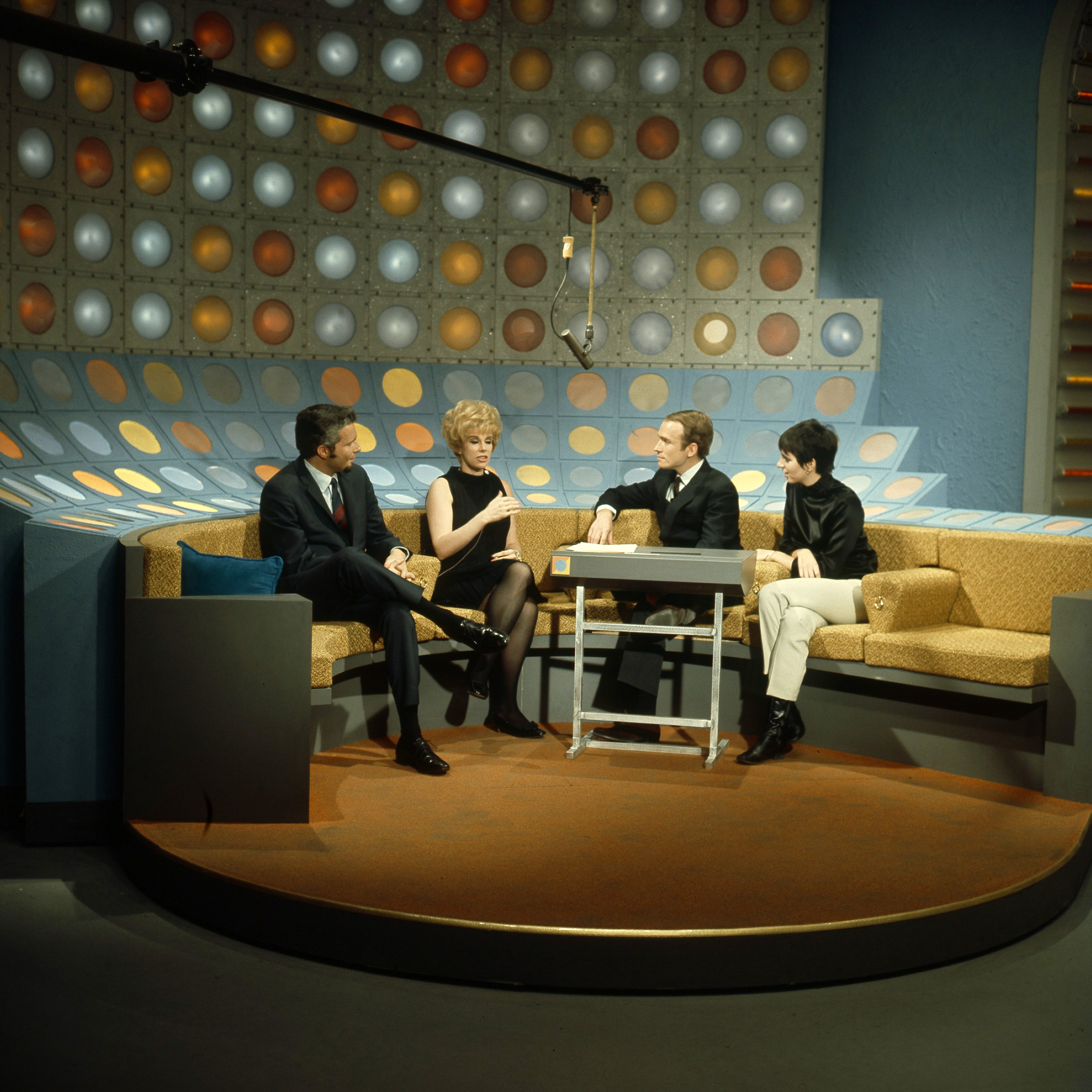 Joan Rivers, Dick Cavett, and Liza Minnelli on <i>This Morning</i>, Feb. 12, 1968.