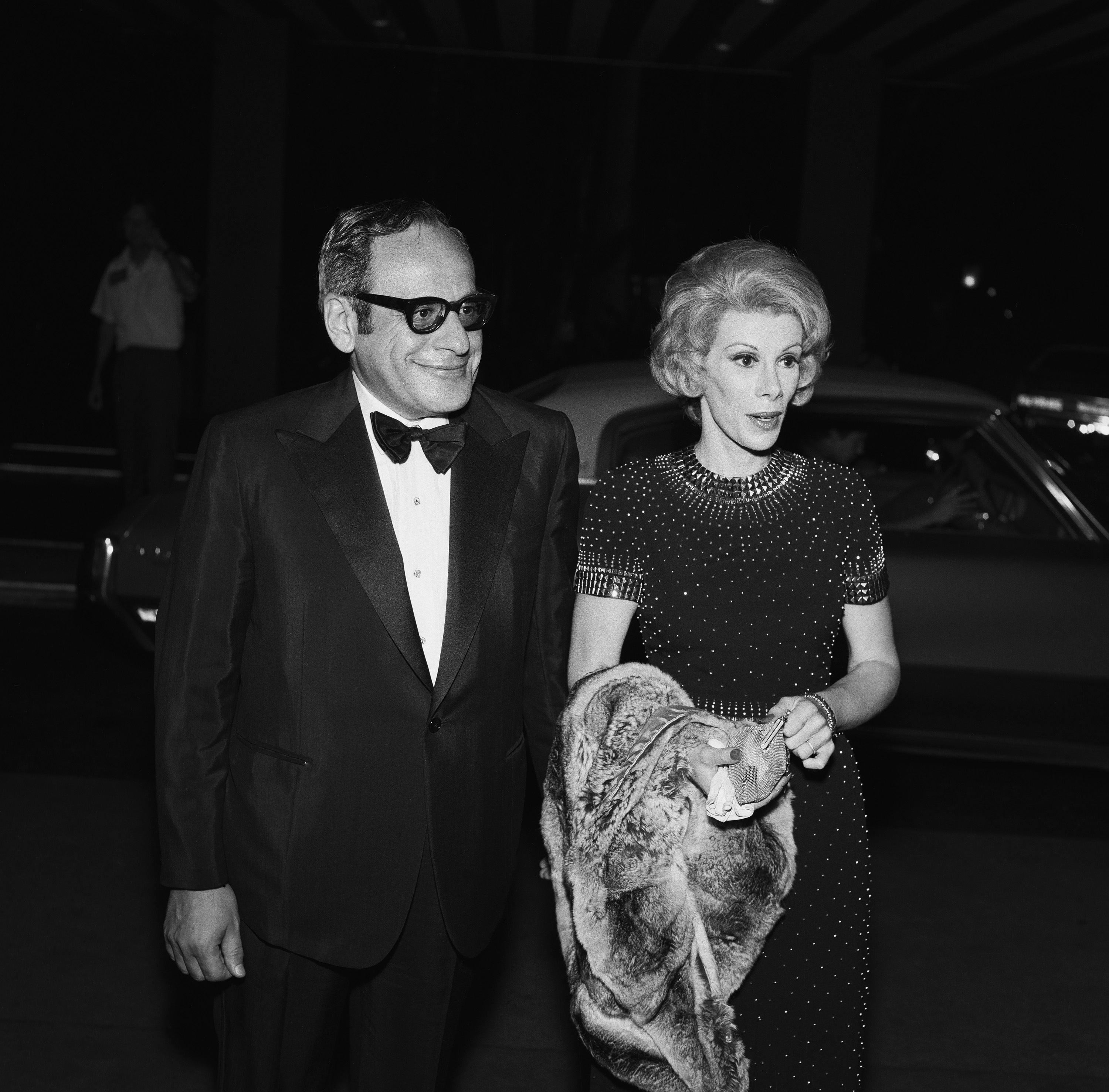 Producer Edgar Rosenberg and wife comedian Joan Rivers during the <i>Tonight Show</i> Starring Johnny Carson 10th Anniversary party on September 30, 1972 in New York City.