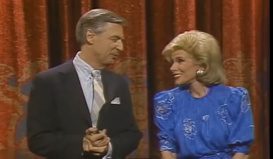 Joan Rivers And Mister Rogers On Tonight Show Singing And Dancing Time
