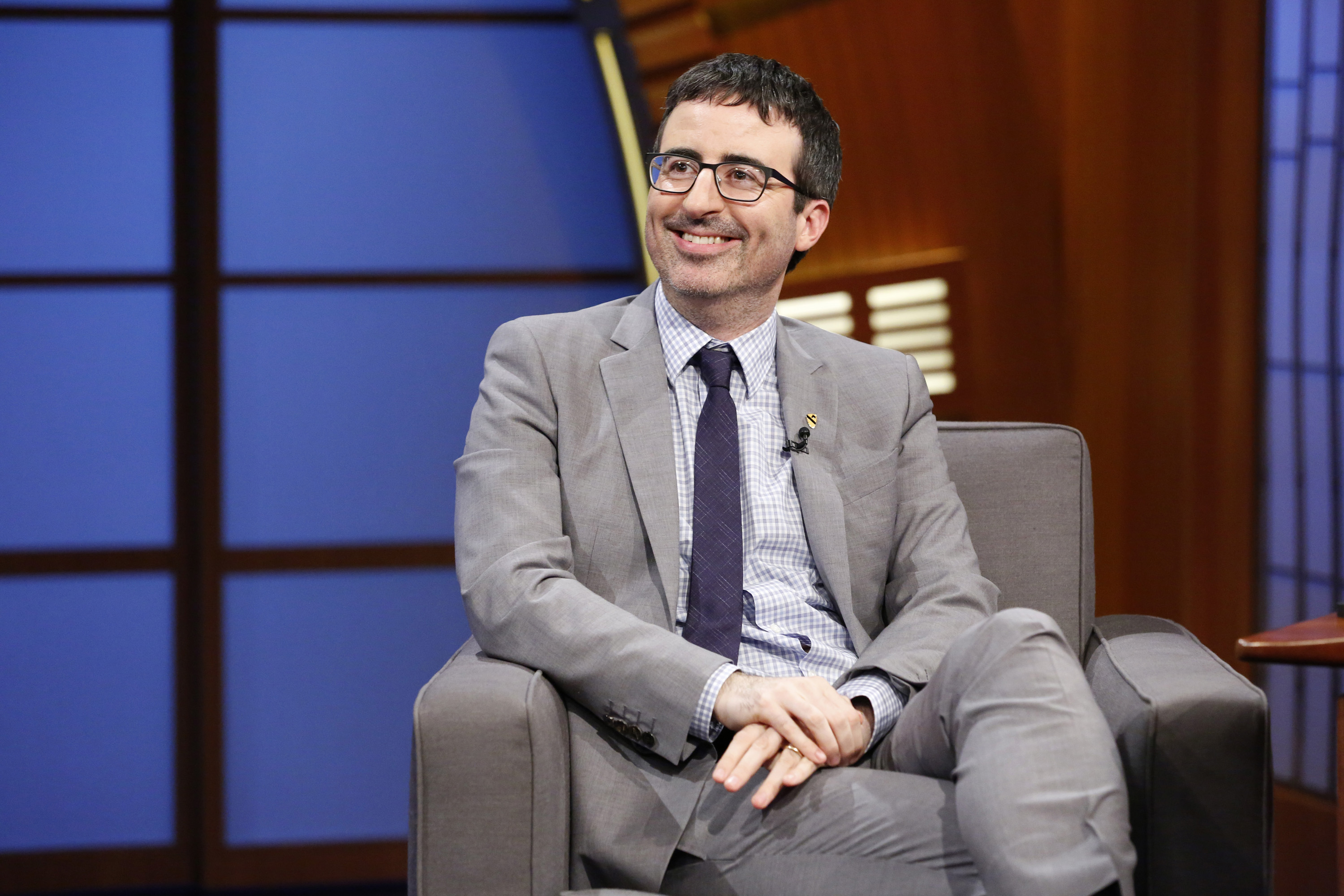 Comedian John Oliver during an interview on June 11, 2014.