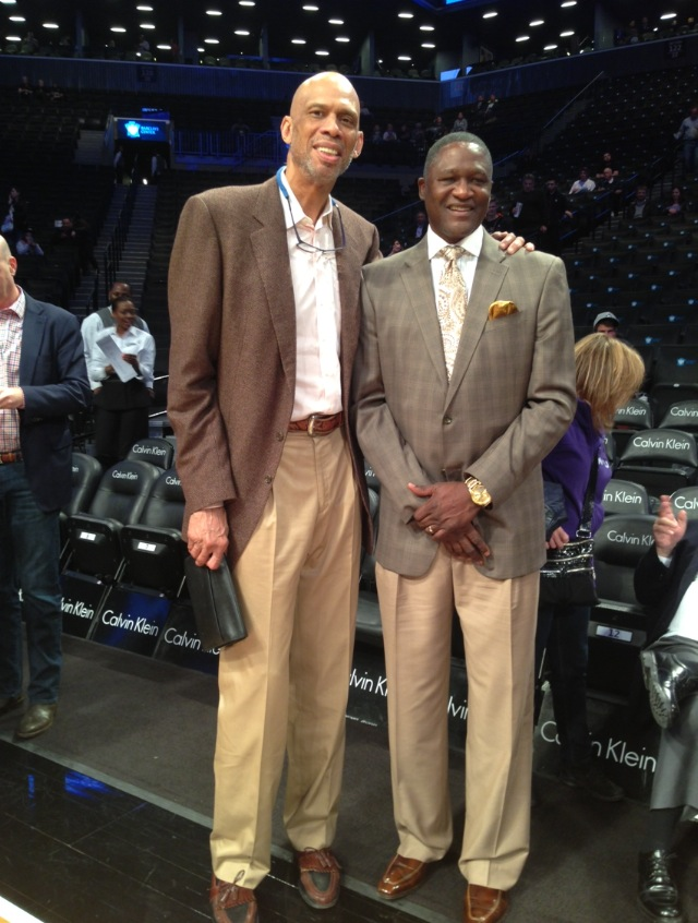 From left: Kareem Abdul Jabbar and Dominique Wilkins