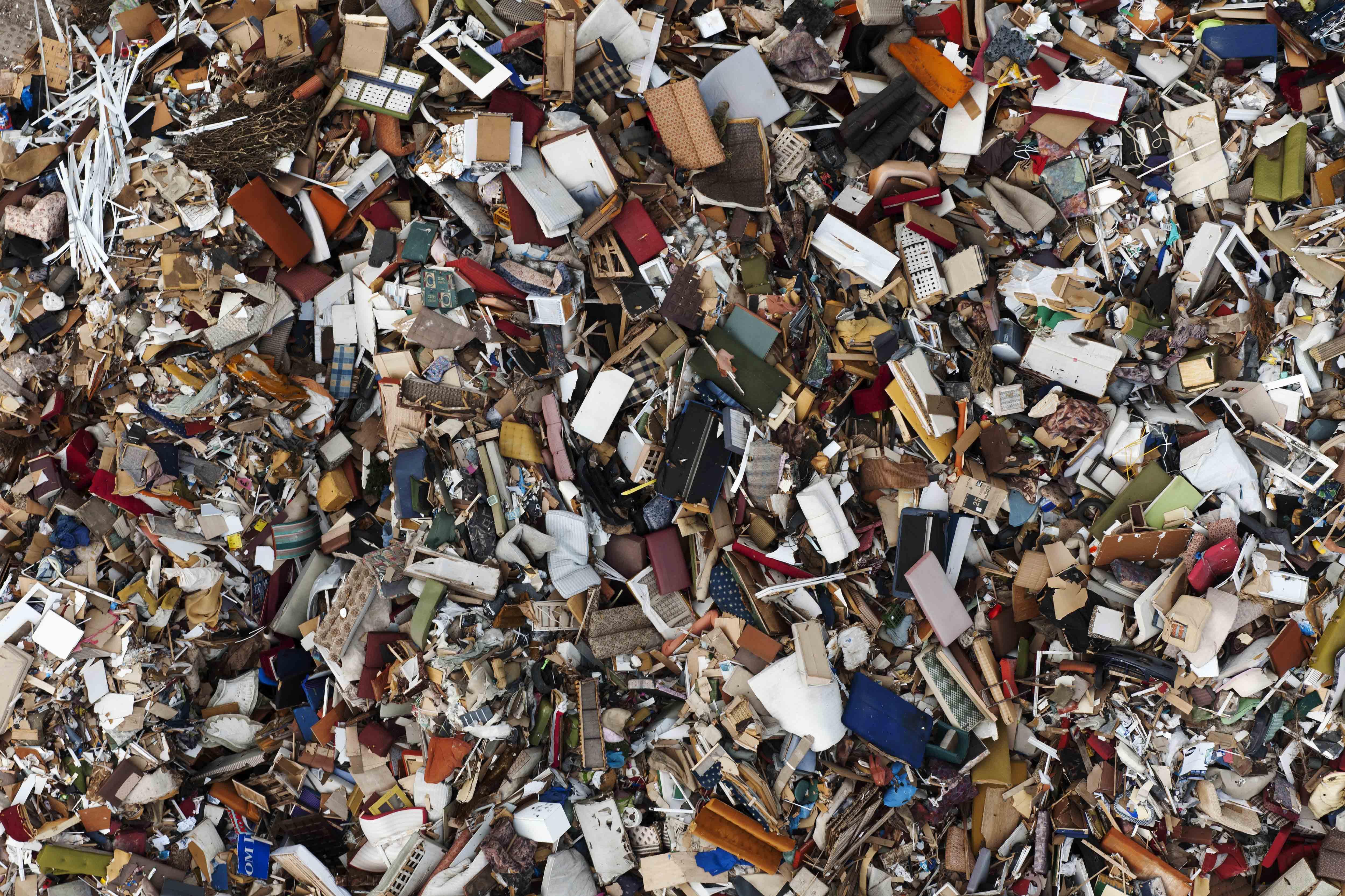 A garbage dump in Gdynia, Poland.