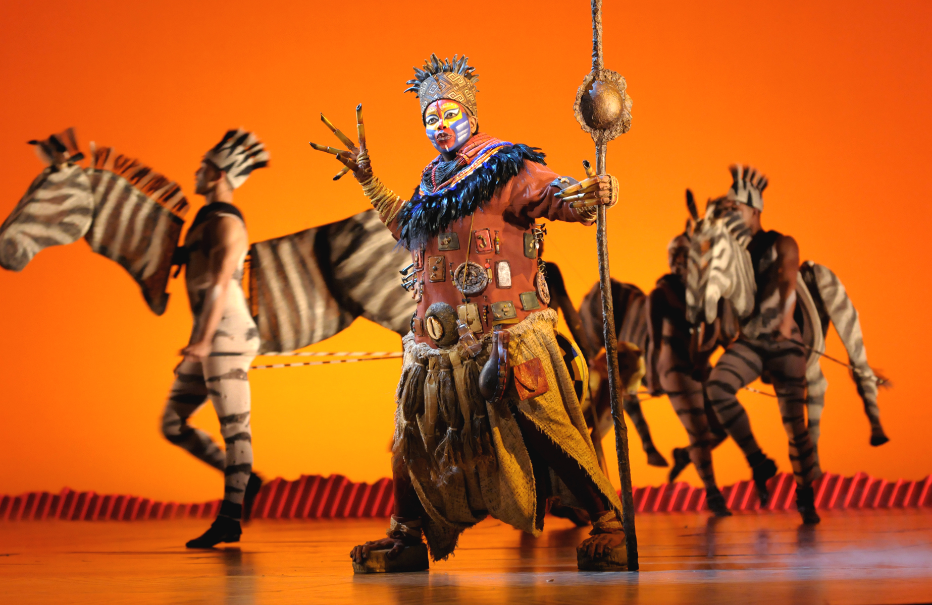 A scene during a performance of Disney's  The Lion King,  in Las Vegas.