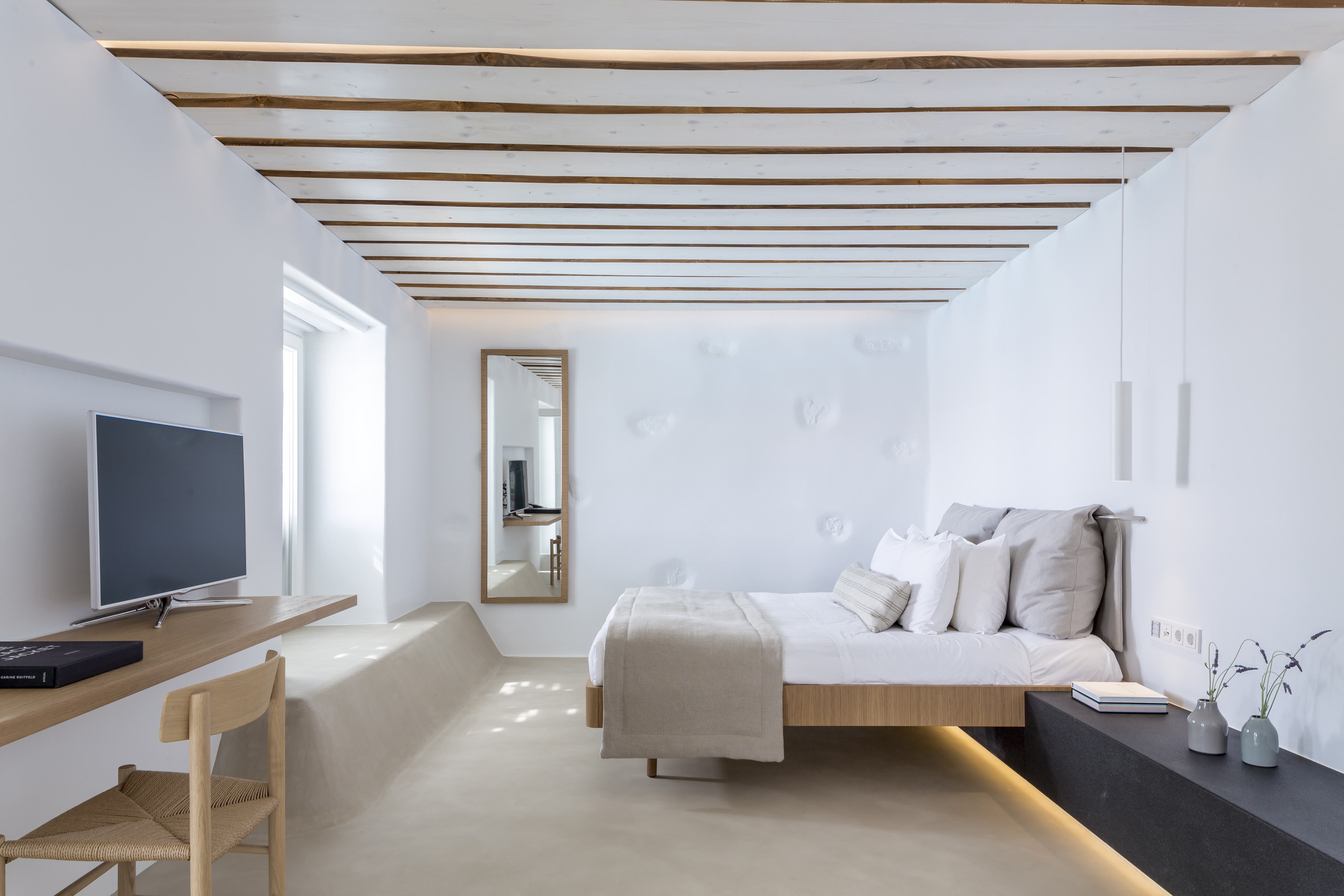 Bill & Coo, Mykonos, Greece                                                              Already a haven from the bustling crowds of Mykonos Town, the luxury boutique hotel Bill & Coo has just emerged from a makeover that saw Greek architects K-studio redesign some of its 35 bedroom suites. Using their signature warm, crafted aesthetic, the studio took the local architectural vernacular and building techniques as inspiration, incorporating natural materials such as granite stone and oak to create a soothing atmosphere. Lighting comes courtesy of local design firm IFI Group, while chic CEA Design fittings are installed in bathrooms. The hotel retains its excellent service and award-winning alfresco restaurant, which features a contemporary Greek menu from chef Athinagoras Kostakos, specialising in locally sourced meat and seafood.                                                               Megali Ammos, Mykonos, 84600; Tel: 30.22 8902 6292; www.bill-coo-hotel.com; www.k-studio.gr; rates from €260                                                              (Writer: David Paw)