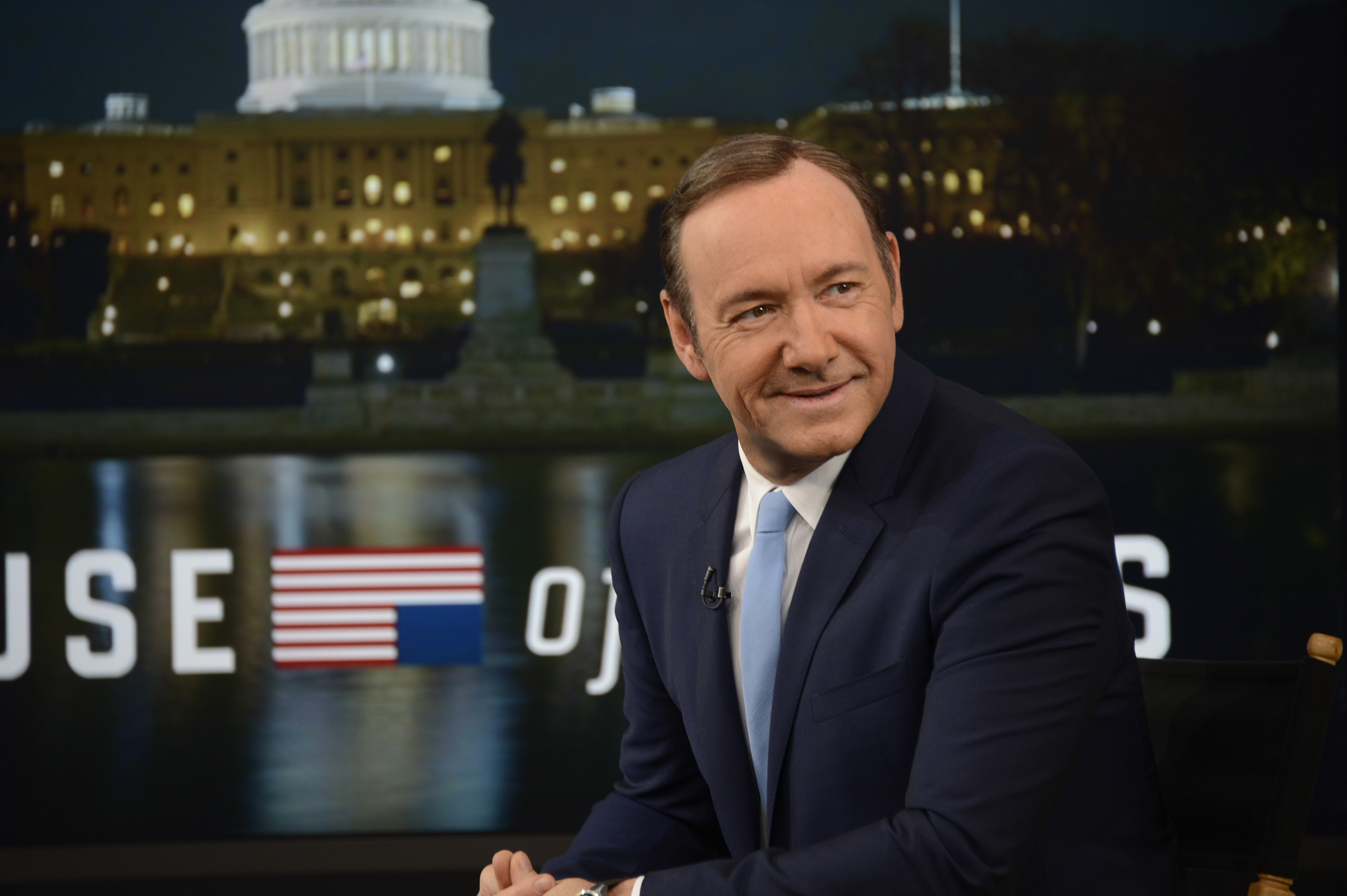 Kevin Spacey talks about the new season of  House of Cards  on Good Morning America, 2/18/14, airing on the ABC Television Network.
