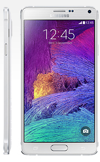 Samsung's Galaxy Note 4 sports a high-resolution 5.7-inch screen and a UV sensor