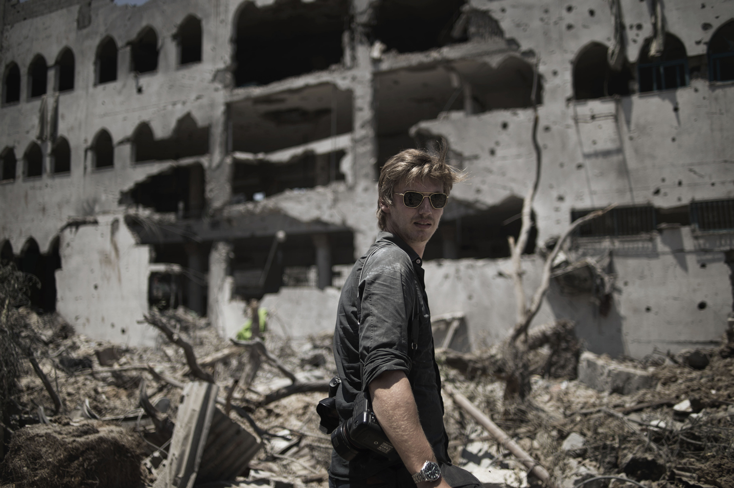Oliver Weiken in Shejaiya, in east Gaza City, during a ceasefire on July 26, 2014.