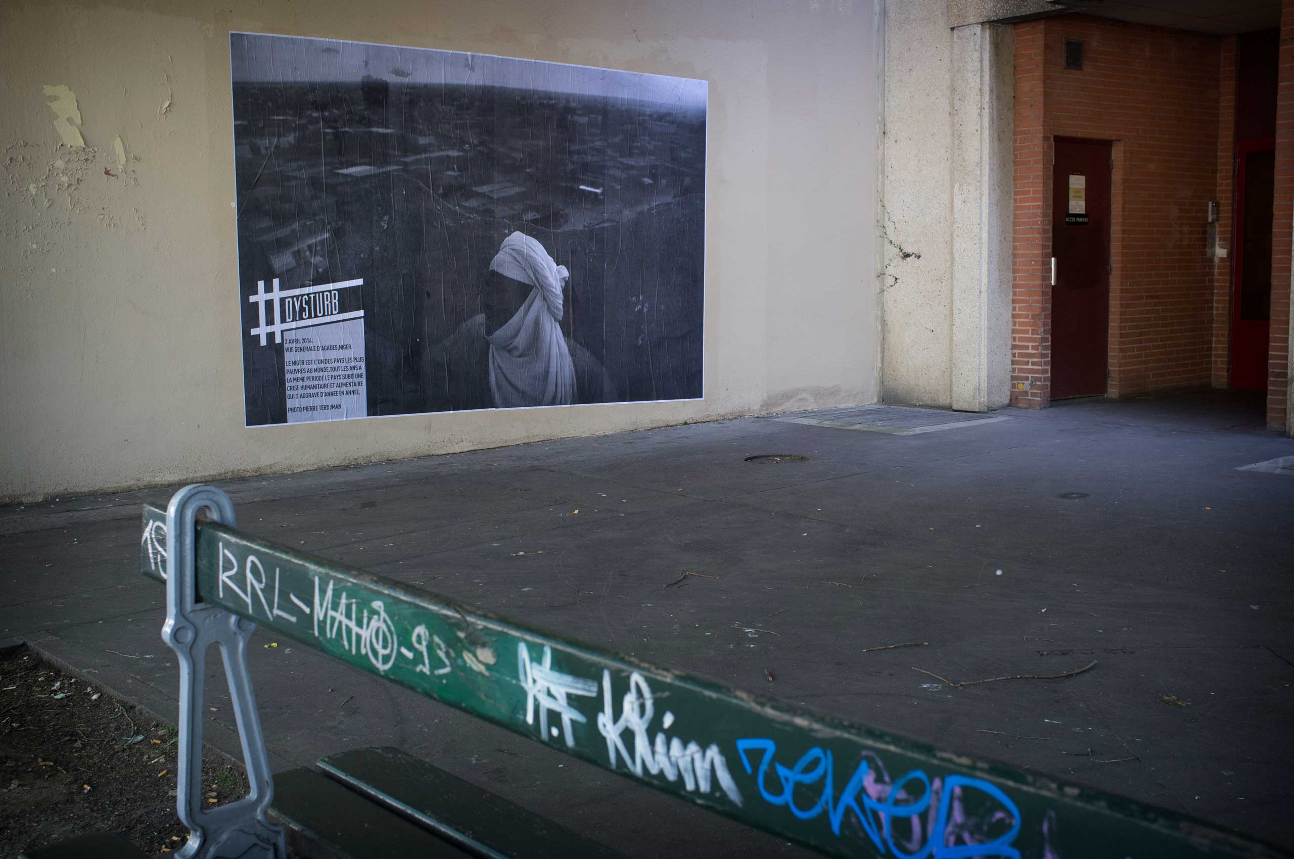 One of Pierre Terdjman's photographs on a Parisian wall