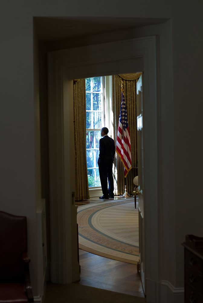 This was a difficult day for the President, shown here in the Oval Office on June 23, 2010, after he had made the decision to replace Gen. Stanley McChrystal with Gen. David Petraeus as the Commander of U.S. Forces in Afghanistan.
