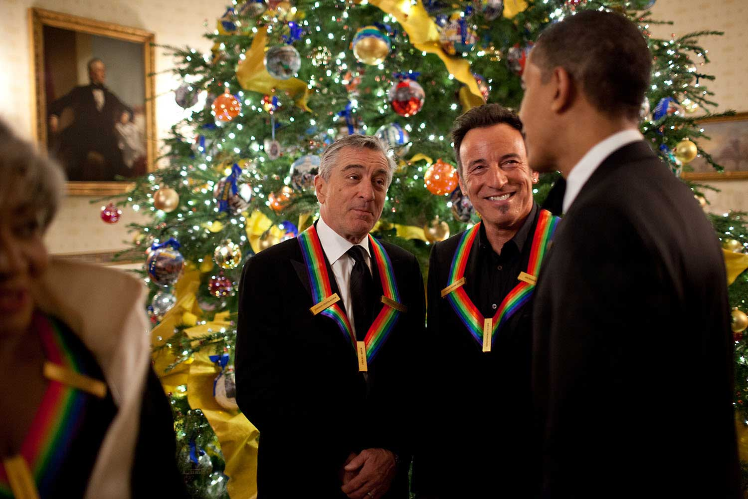 """Having seen more than 25 Bruce Springsteen concerts since 1978 and having seen just about every movie Robert DeNiro has ever made, it was a great thrill to be in their presence as the President greeted them before the Kennedy Center Honors at the White House, Dec. 6, 2009."""