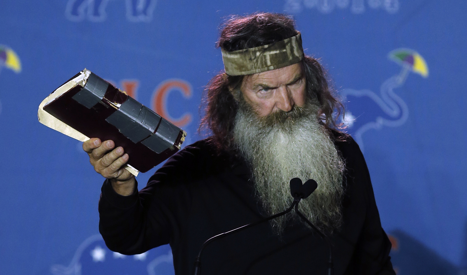 Phil Robertson addresses the Republican Leadership Conference in New Orleans, La. on Thursday, May 29, 2014.