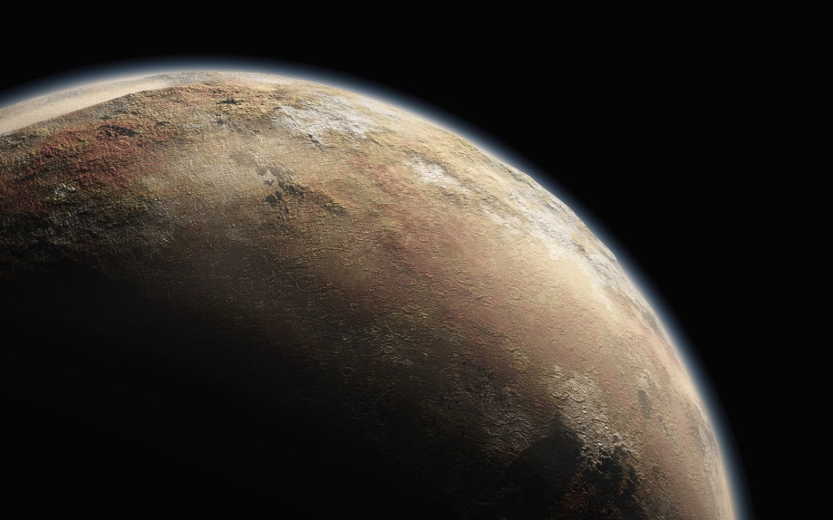 Sure looks like a planet: An artist's rendering of Pluto