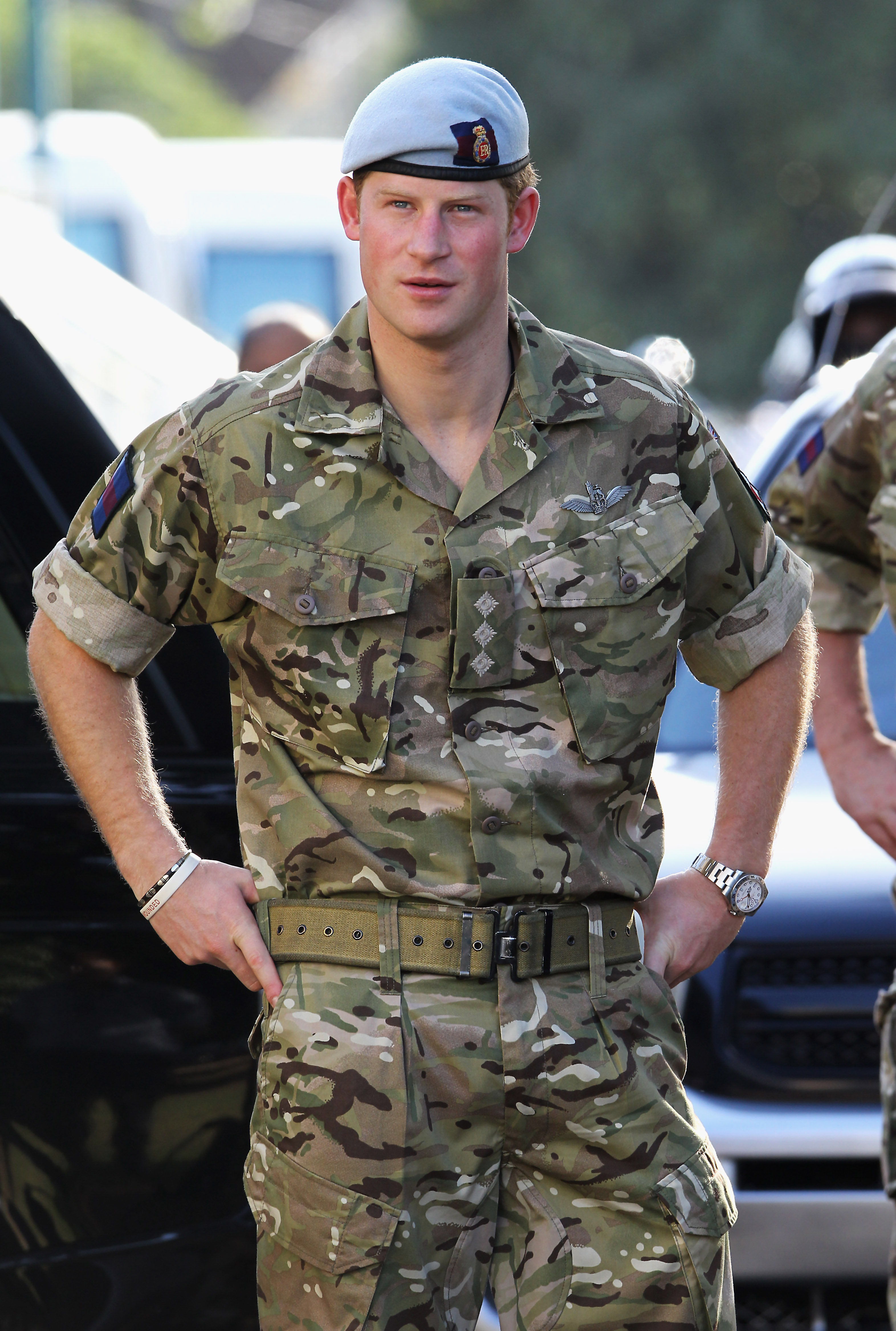 Prince Harry visits Up-Park Camp on March 7, 2012 in Kingston, Jamaica. Prince Harry was in Jamaica as part of a Diamond Jubilee Tour, representing Queen Elizabeth.