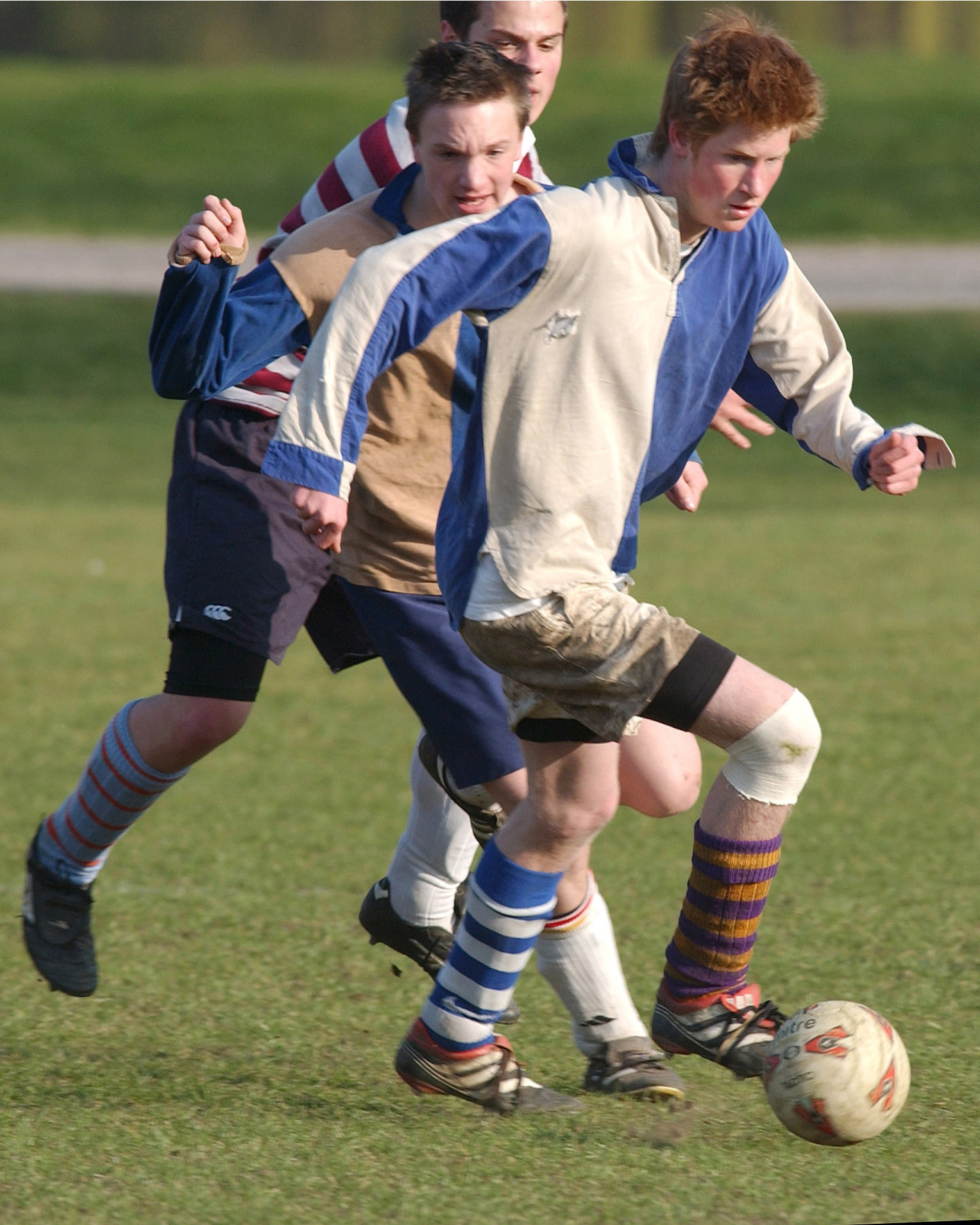Prince Harry takes part in The Field Game on College Field at Eton in Berkshire, England on June 8, 2003.