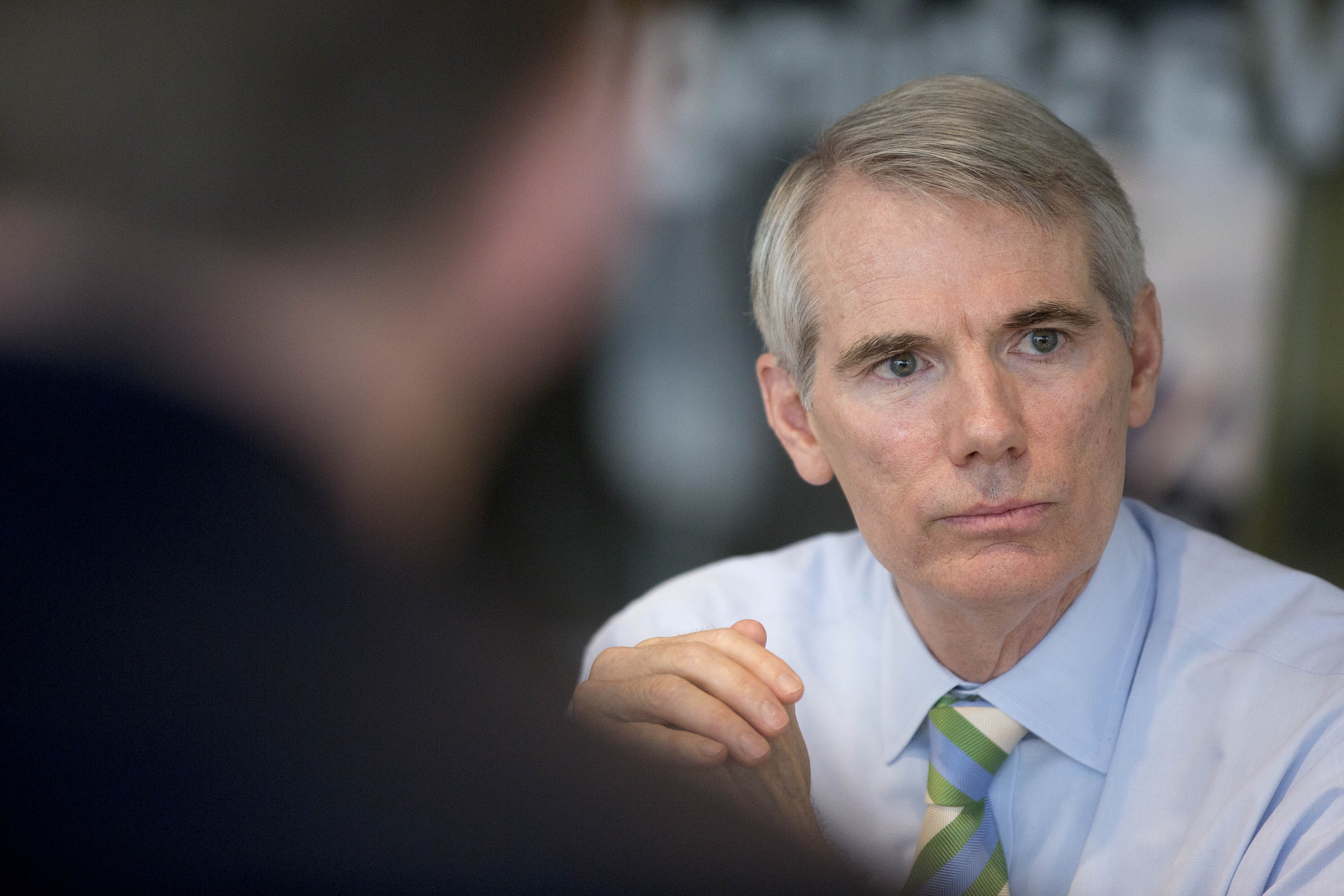Senator Rob Portman, a Republican from Ohio, speaks during an interview in Washington on July 10, 2014.
