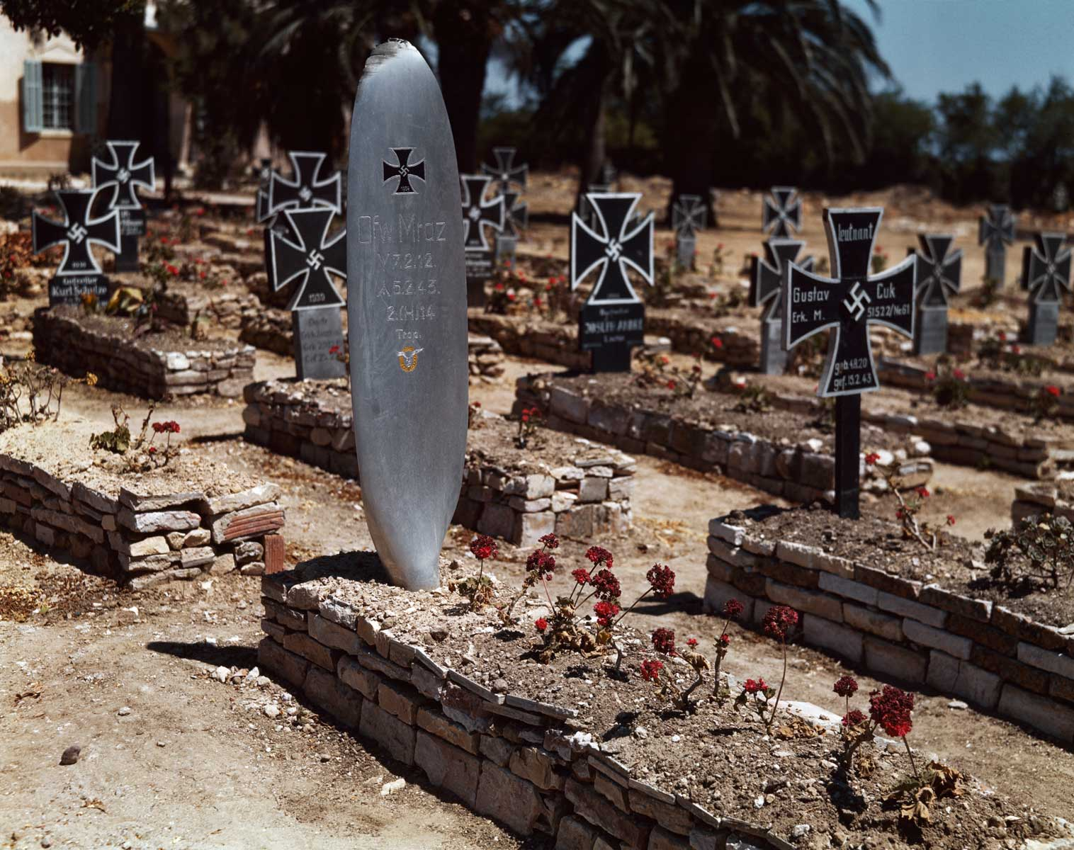German cemetery, near El Ouina airfield, Tunisia, May 1943.