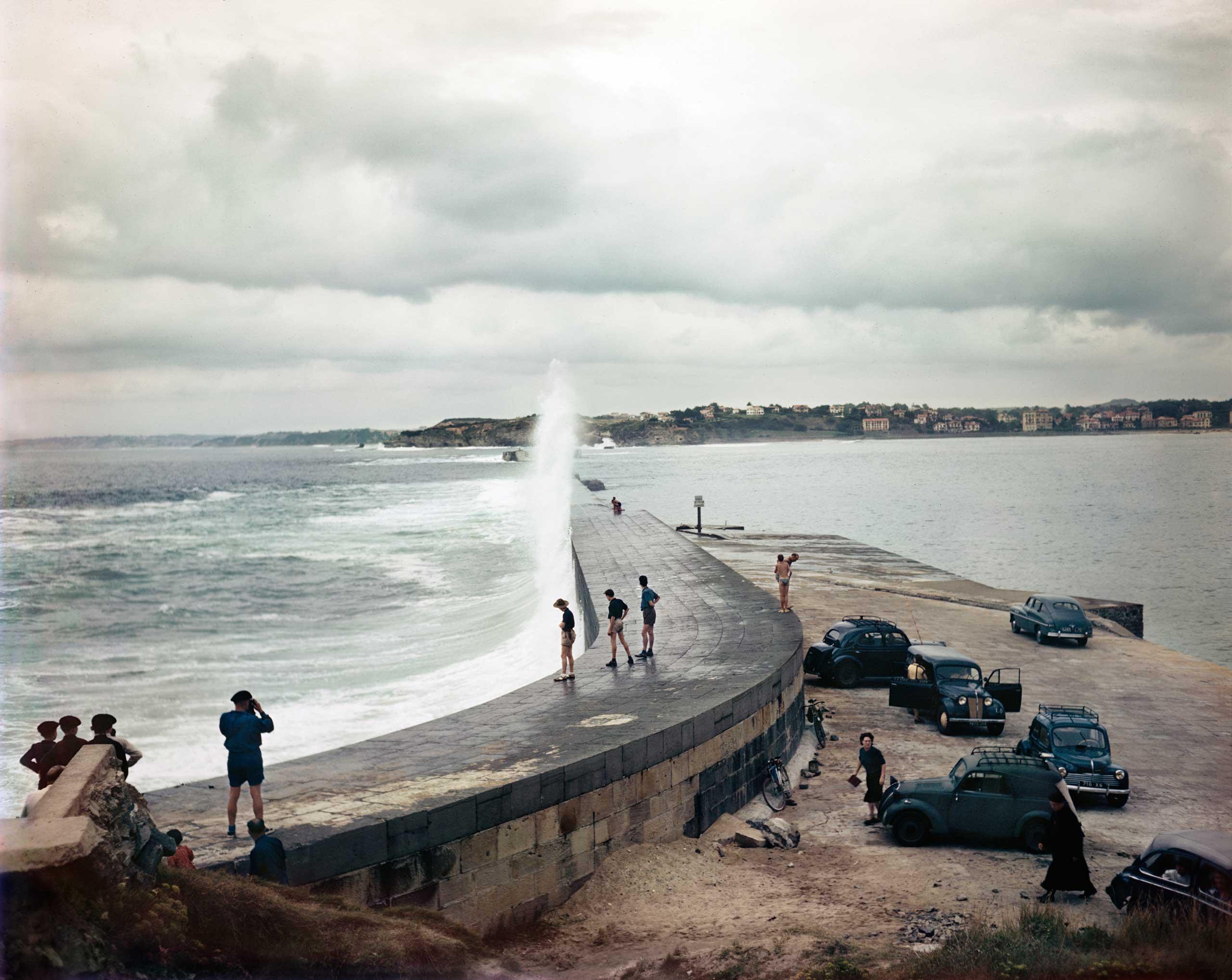 Jetty, Biarritz, France, Aug. 1951.