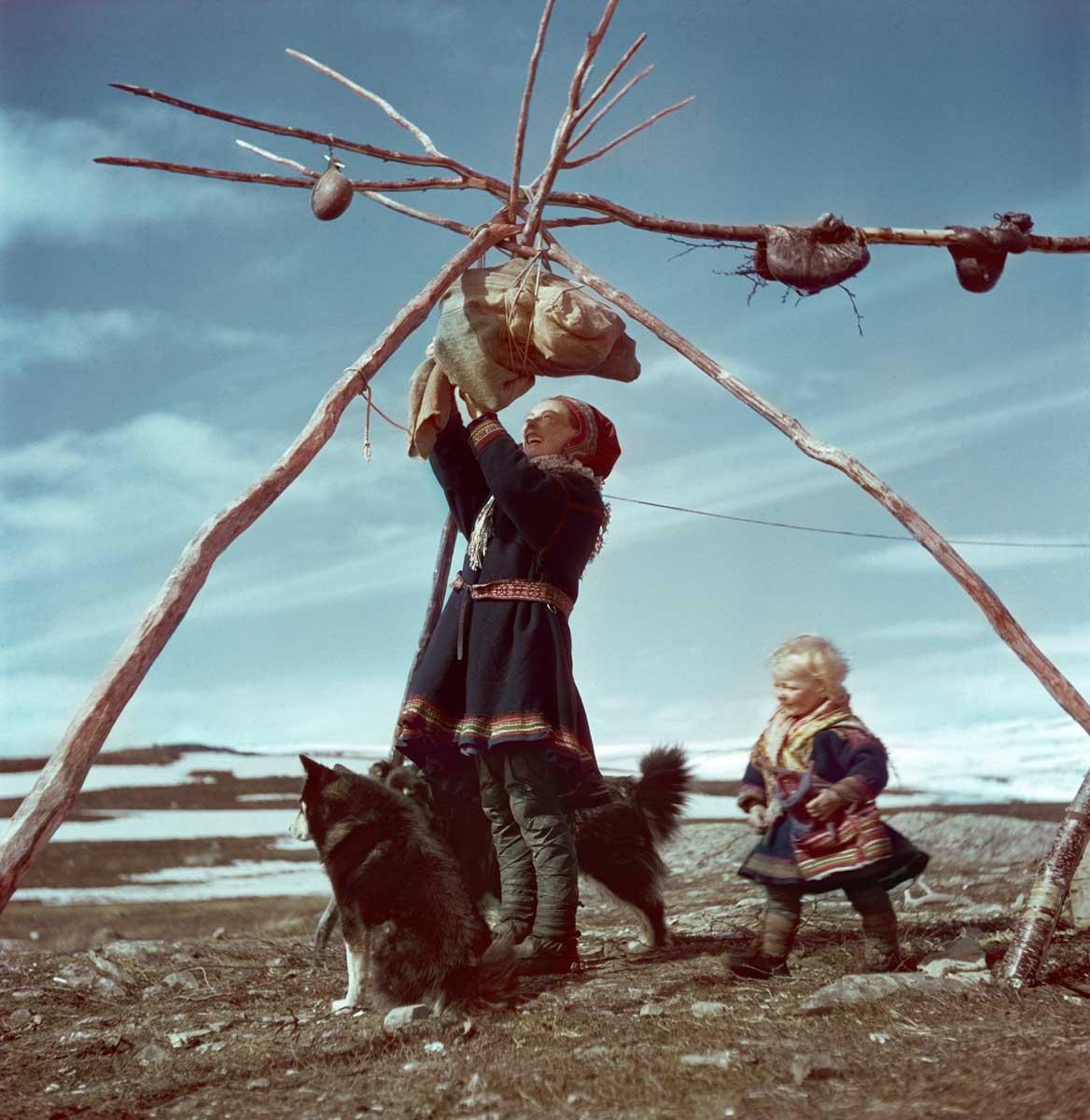 Lapp family, Norway, 1951.