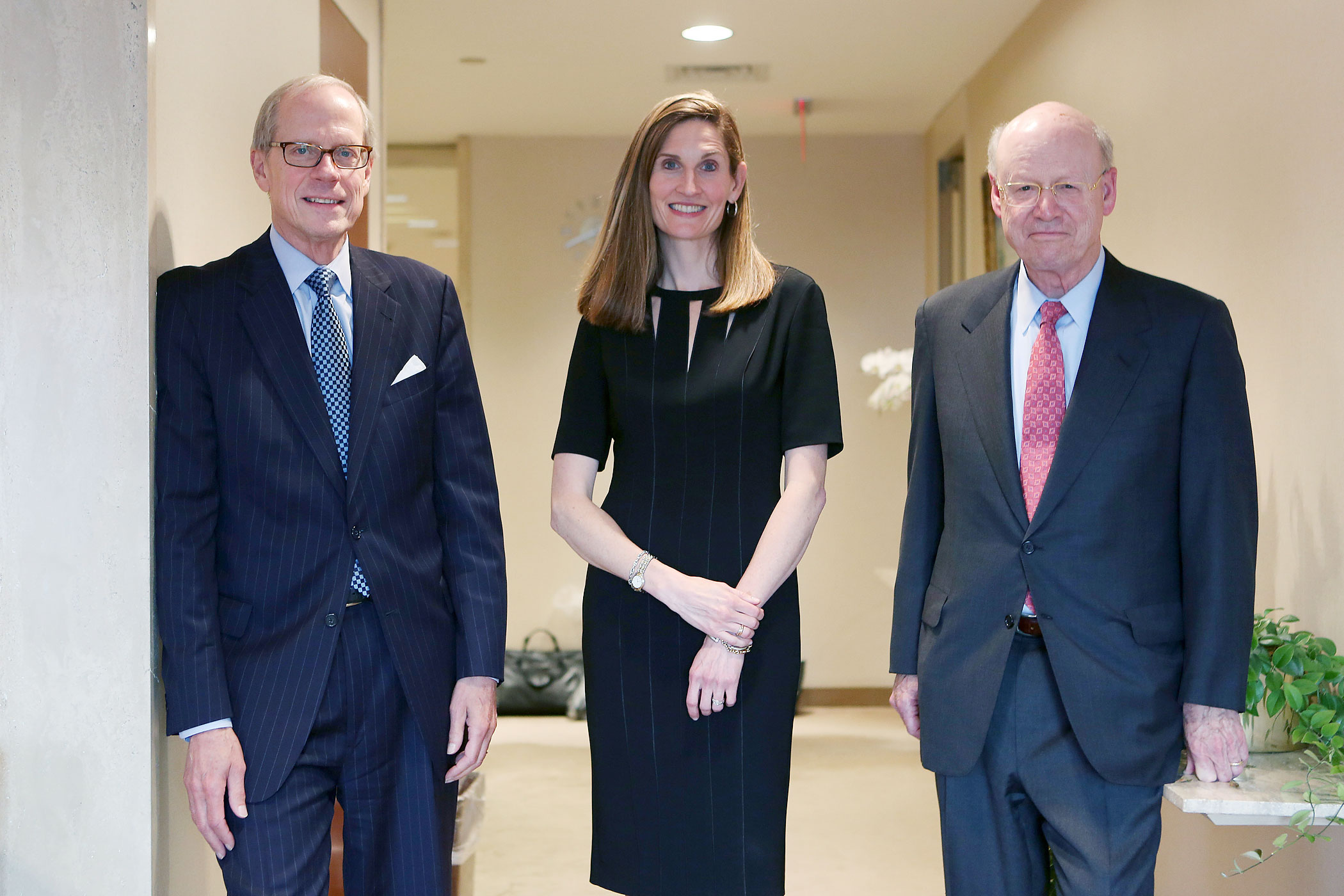 From left: Stephen Heintz, President of the Rockefeller Brothers Fund, Valerie Rockefeller Wayne, the chair of the fund, and Steven Rockefeller, a son of Nelson Rockefeller and a trustee of the fund, in New York, Sept. 16, 2014.