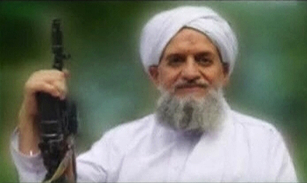 Al-Qaeda's leader, Ayman al-Zawahiri, is seen in this still image taken from a video released on Sept. 12, 2011