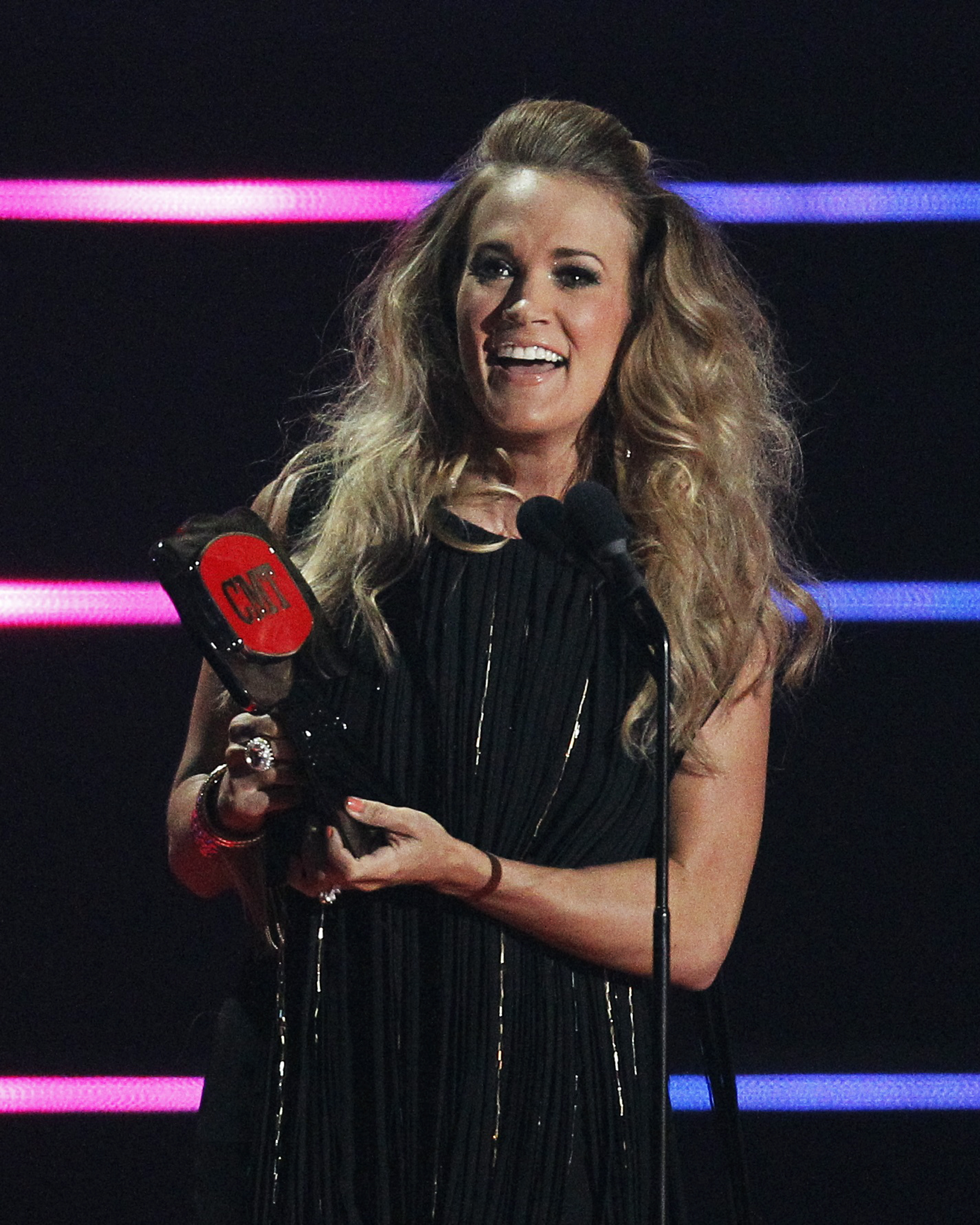 Carrie Underwood accepts Video of the Year Award for  See You Again  during the 2014 CMT Music Awards in Nashville on June 4, 2014