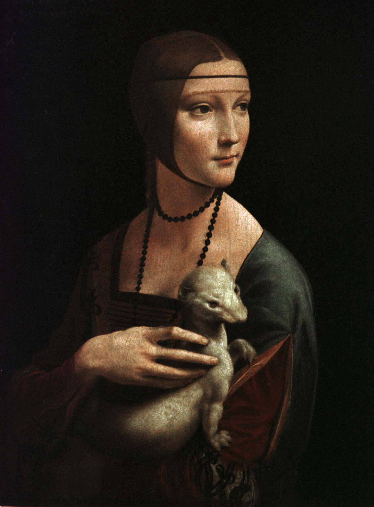 The Lady with Ermine by Leonardo Da Vinci  photographed on Nov. 18, 1998.