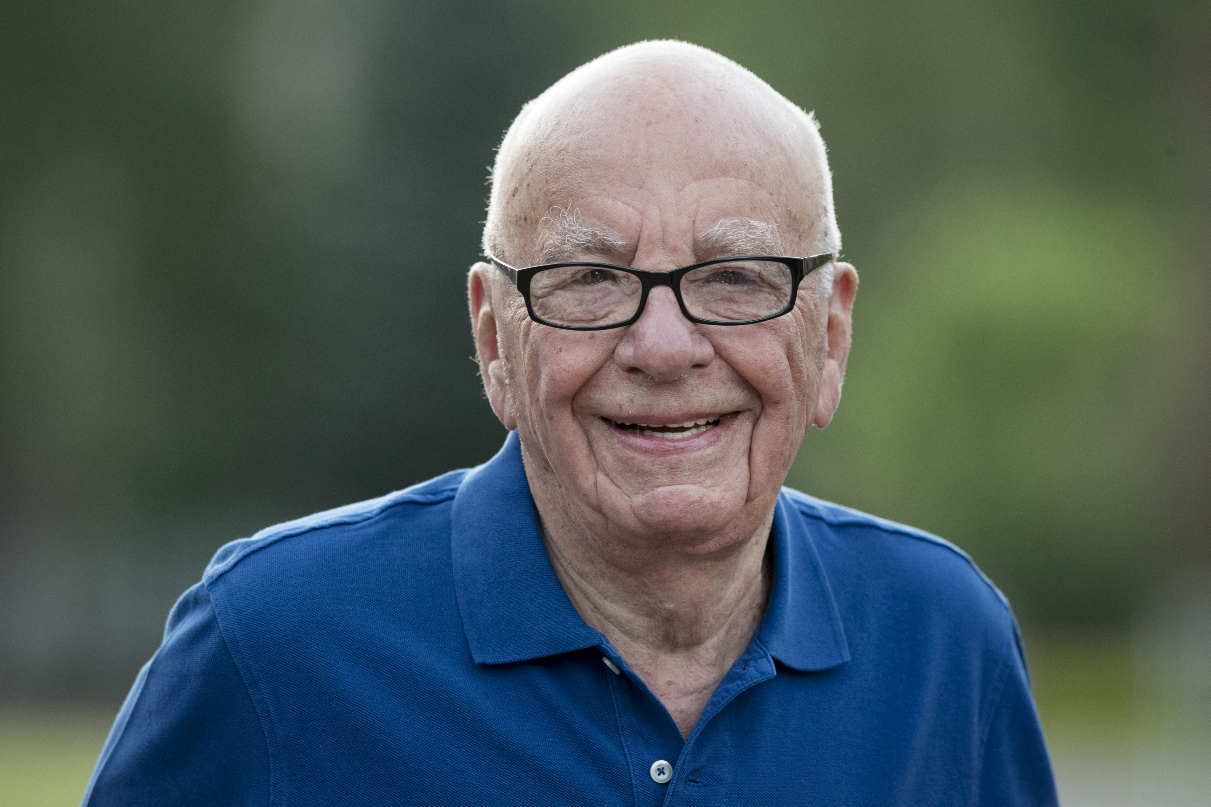 Rupert Murdoch, chairman of News Corp., arrives to a morning session at the Sun Valley Lodge during the Allen & Co. Media and Technology Conference in Sun Valley, Idaho, U.S., on Wednesday, July 9, 2014.