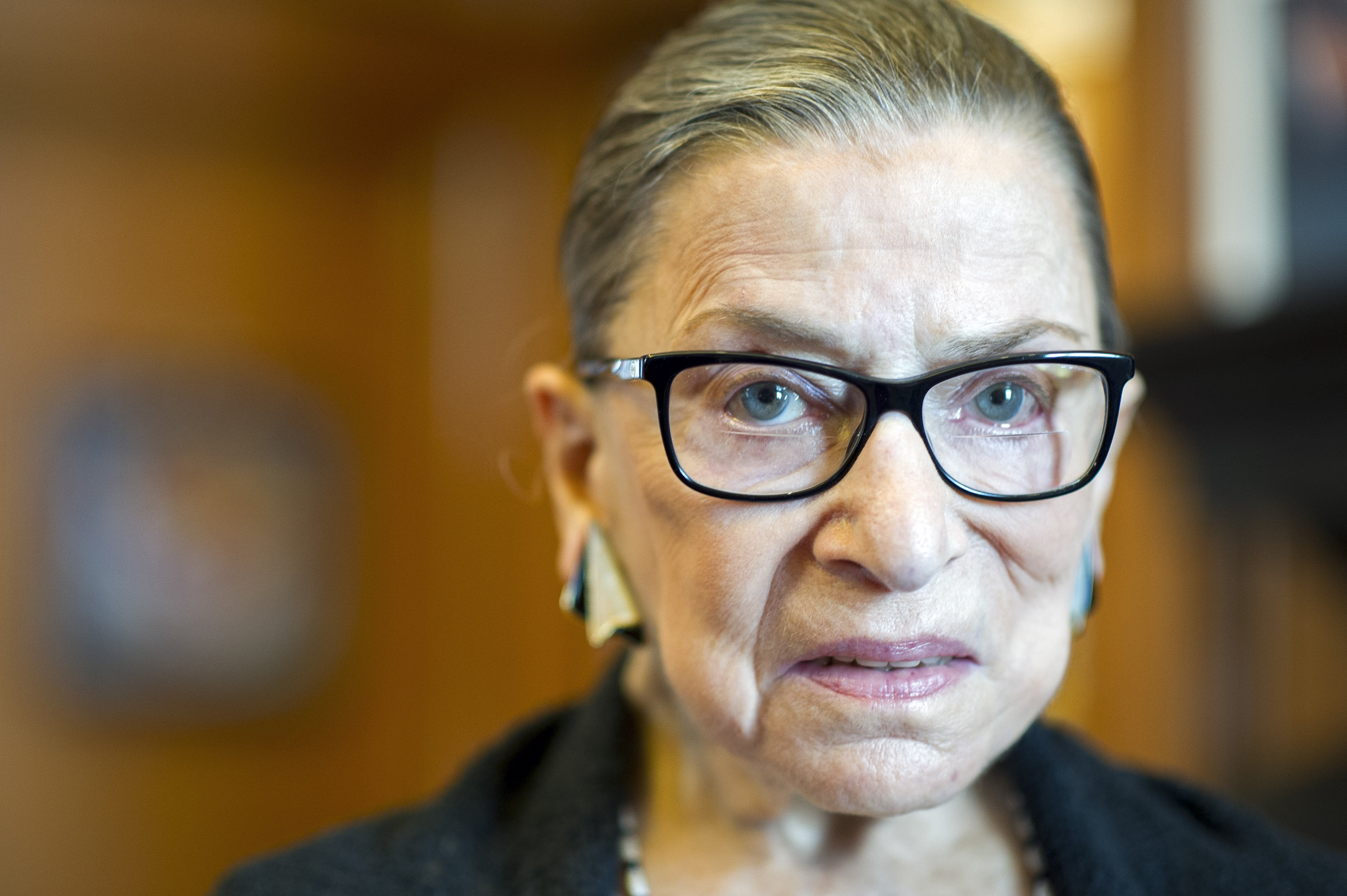 Associate Justice Ruth Bader Ginsburg in her Supreme Court chambers in Washington, July 31, 2014.