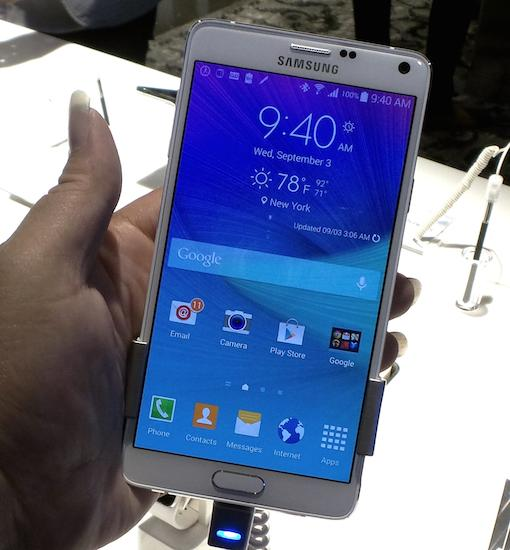 The Samsung Galaxy Note 4
