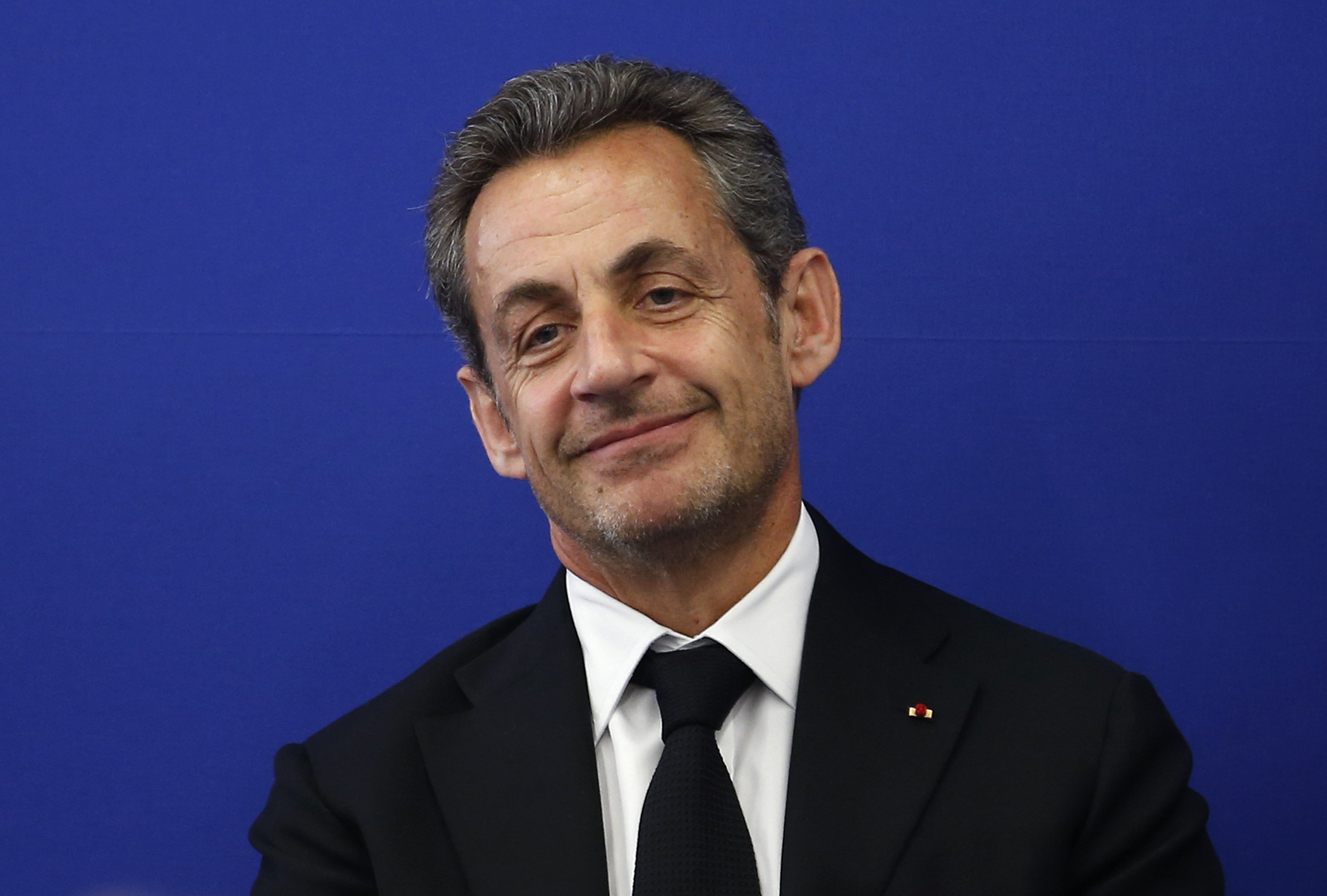Former French President Nicolas Sarkozy attends the inauguration of the Institut Claude Pompidou in Nice in March 2014.