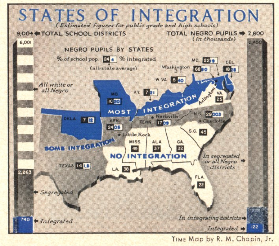 Mapping integration in the Sept. 23, 1957, issue of TIME