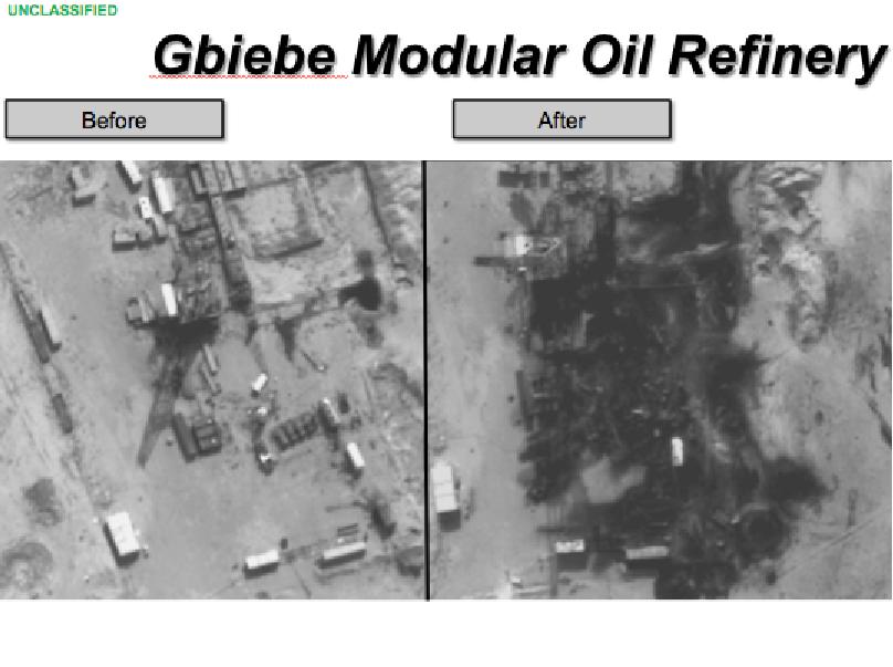 U.S. and allied warplanes attacked a dozen ISIS refineries in eastern Syria on Wednesday.