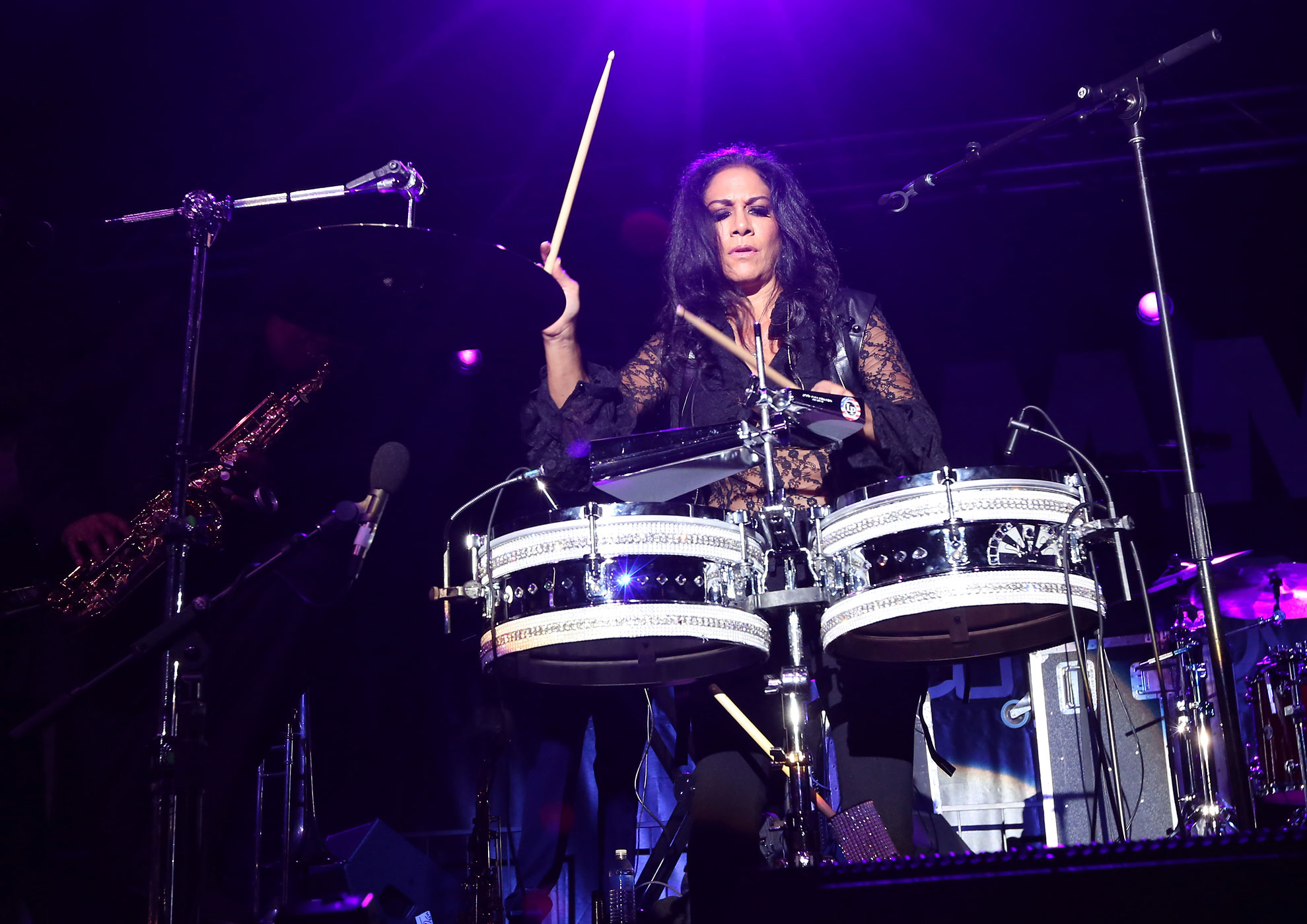 Sheila E. attends the 2014 National Association of Music Merchants show at the Anaheim Convention Center on January 24, 2014 in Anaheim, Ca.