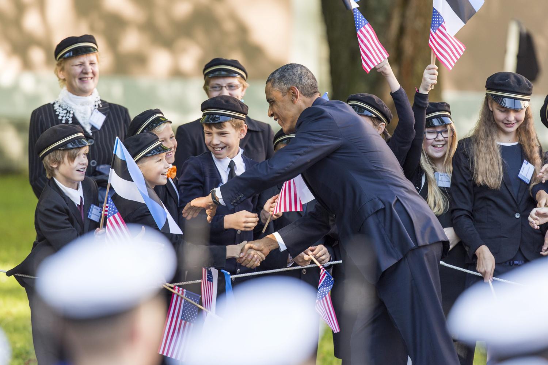 Sept. 3, 2014.                               President Barack Obama visits Tallinn Estonia to meet with the president of Estonia, Toomas Hendrik Ilves.