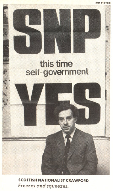 Douglas Crawford, then vice chairman of the Scottish National Party, pictured in the Oct. 28, 1974, issue of TIME
