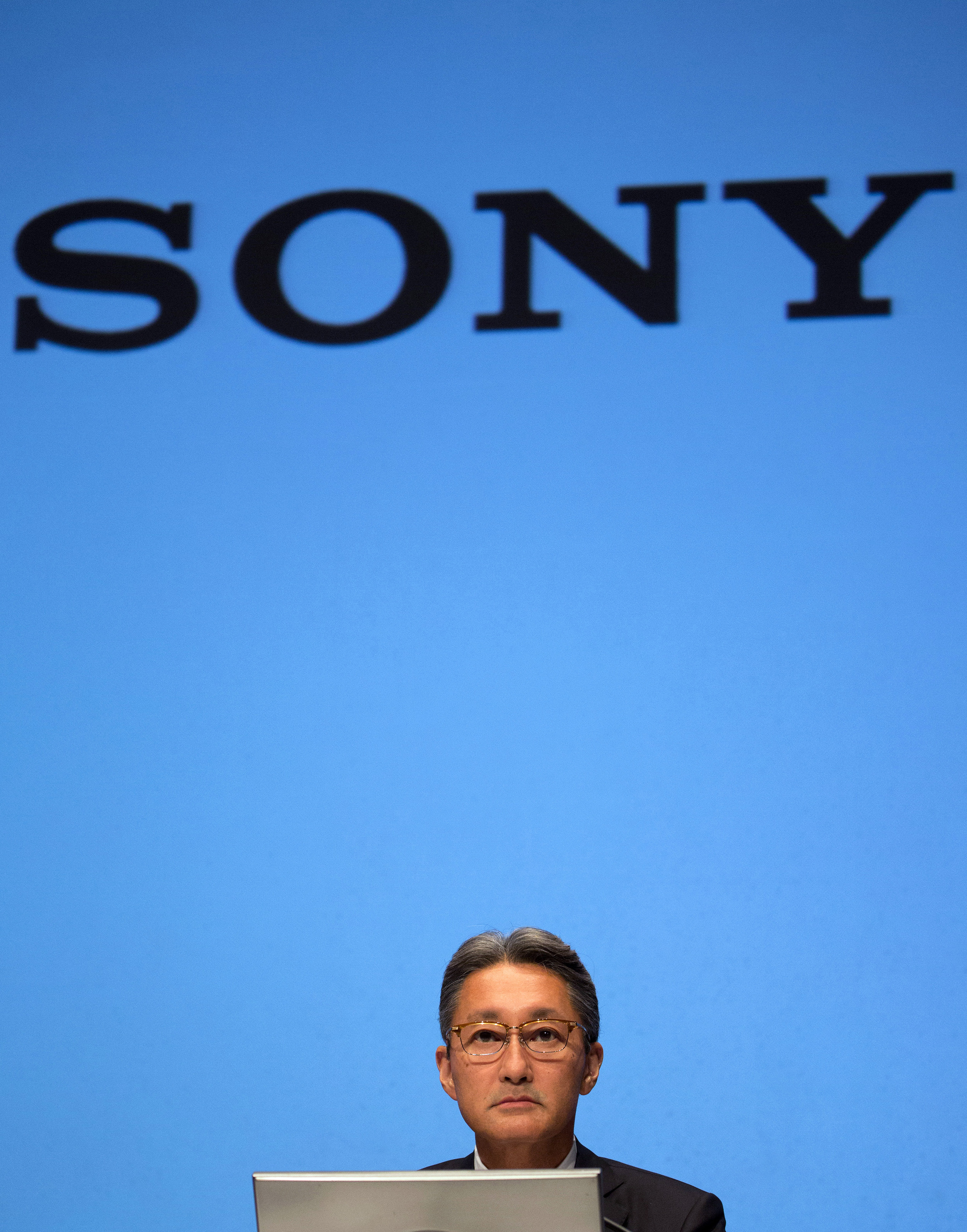 Kazuo Hirai, president and CEO of Sony Corp., attends a news conference in Tokyo, Japan, on Wednesday, Sept. 17, 2014.