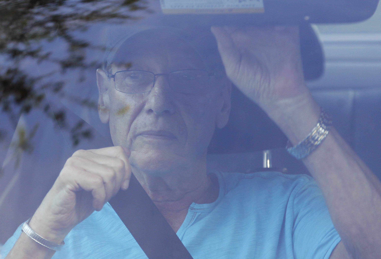 Arthur Sotloff, father of slain journalist Steven Sotloff, leaves their family home in Pinecrest, Florida on Sept. 2, 2014.