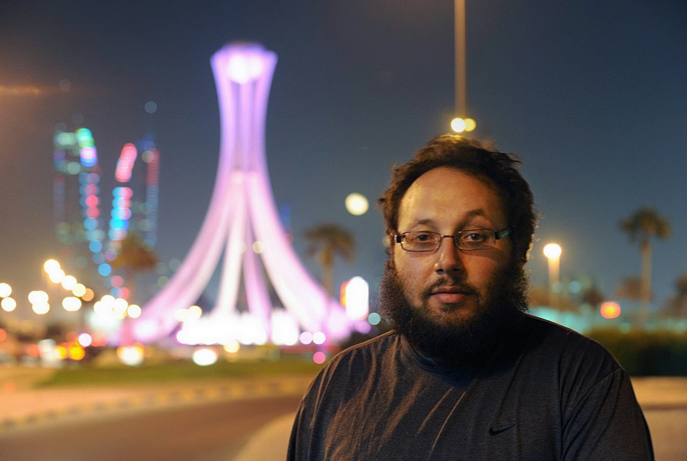 American freelance journalist Steven Sotloff during a work trip in Manama, Bahrain, Oct. 26, 2010.
